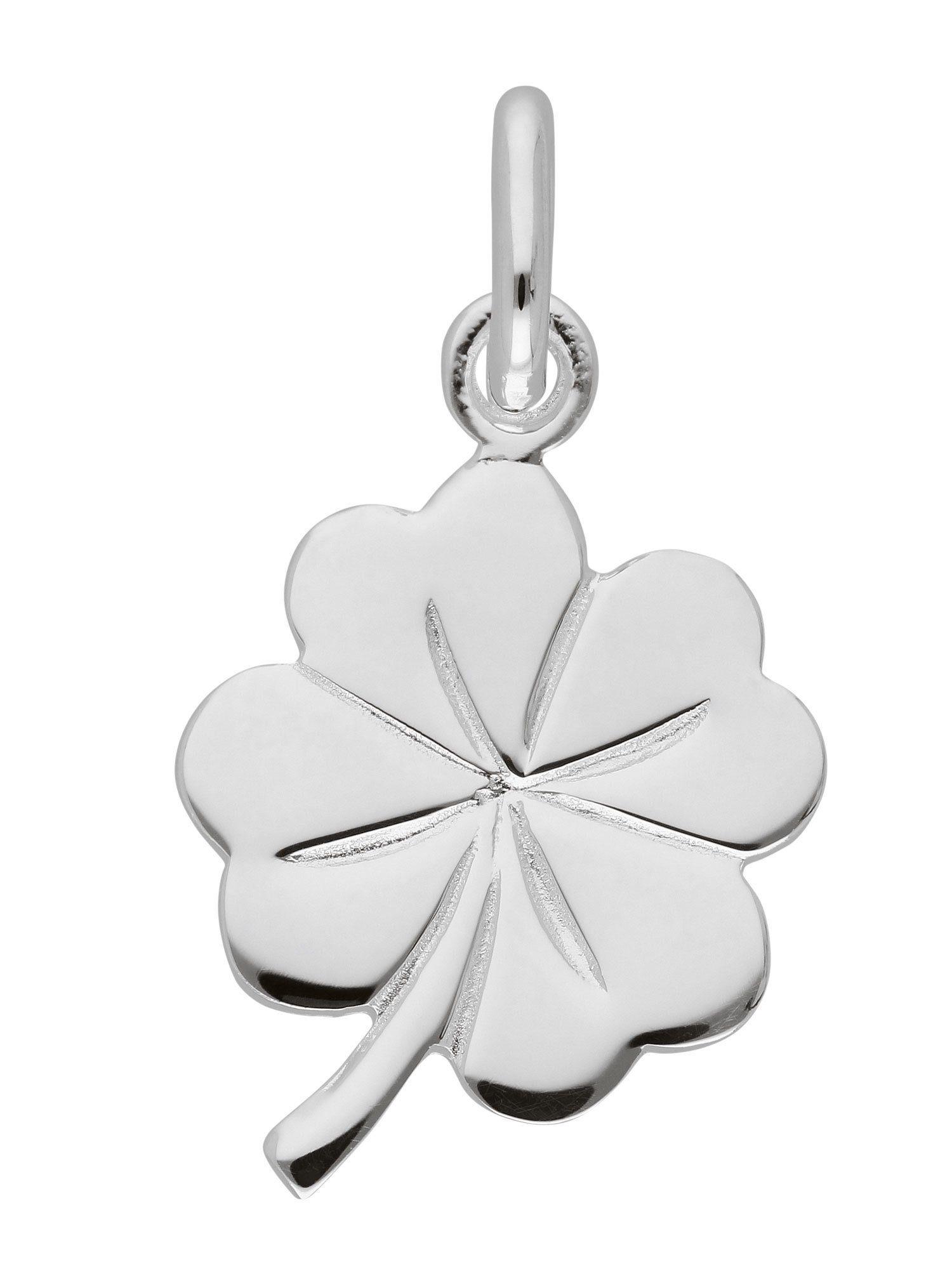 Adelia´s Kettenanhänger »Silber Anhänger« Kleeblatt 925 Sterling Silber