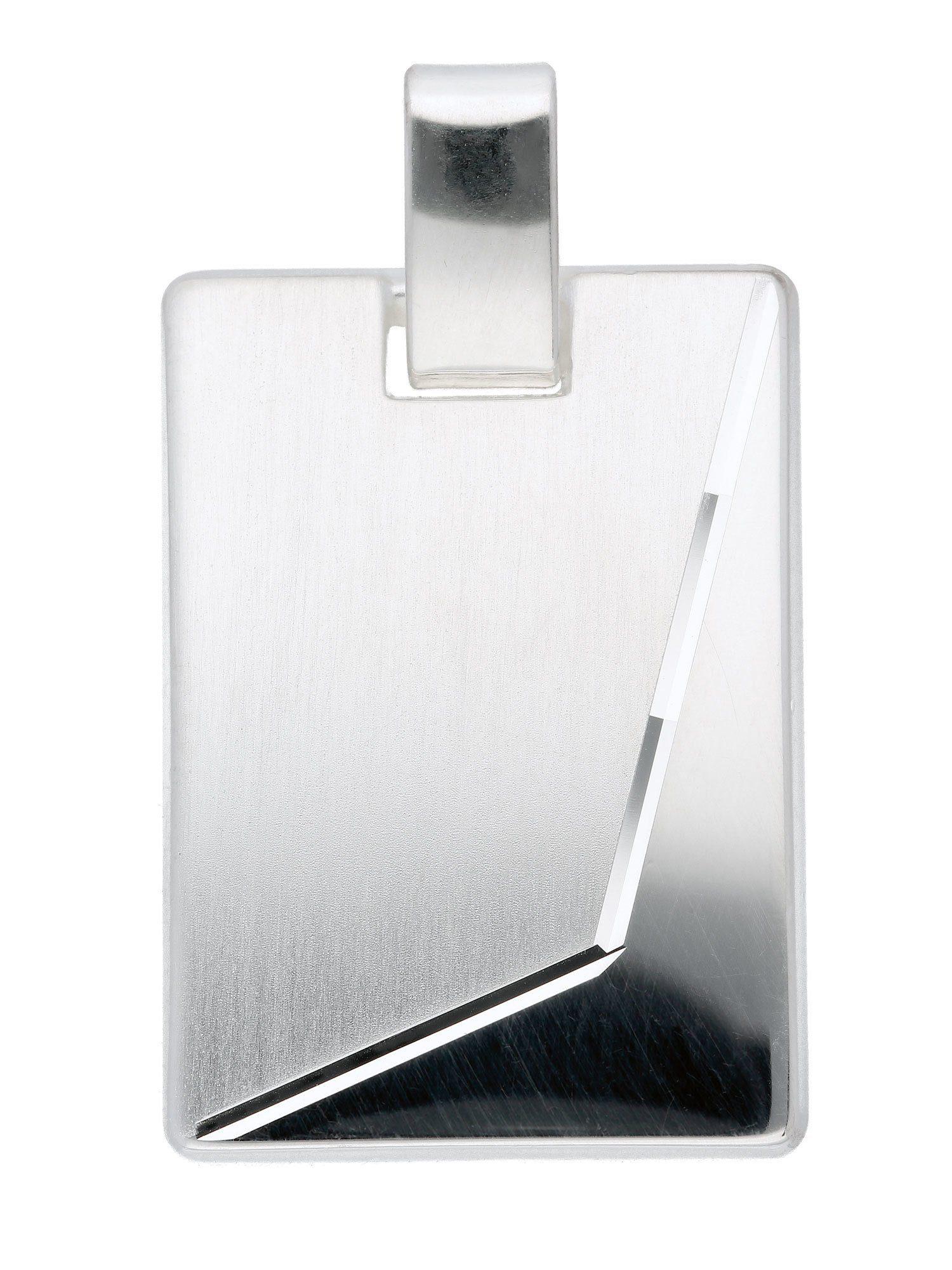 Adelia´s Kettenanhänger »Silber 925 Sterling Silver Gravurplatte« 925 Sterling Silber