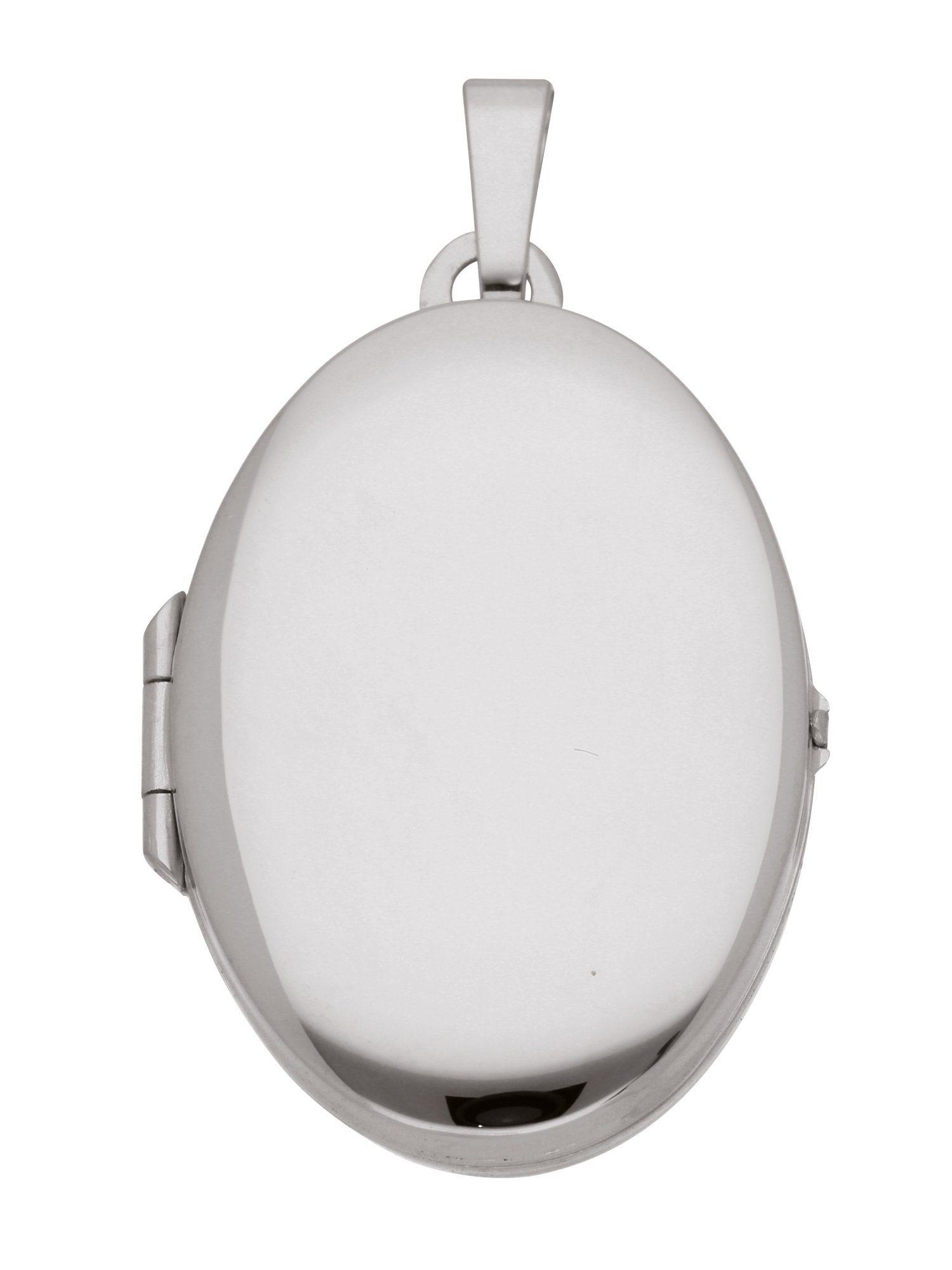 Adelia´s Kettenanhänger »Medaillon Weißgold Anhänger« 14 k 585 Weißgold