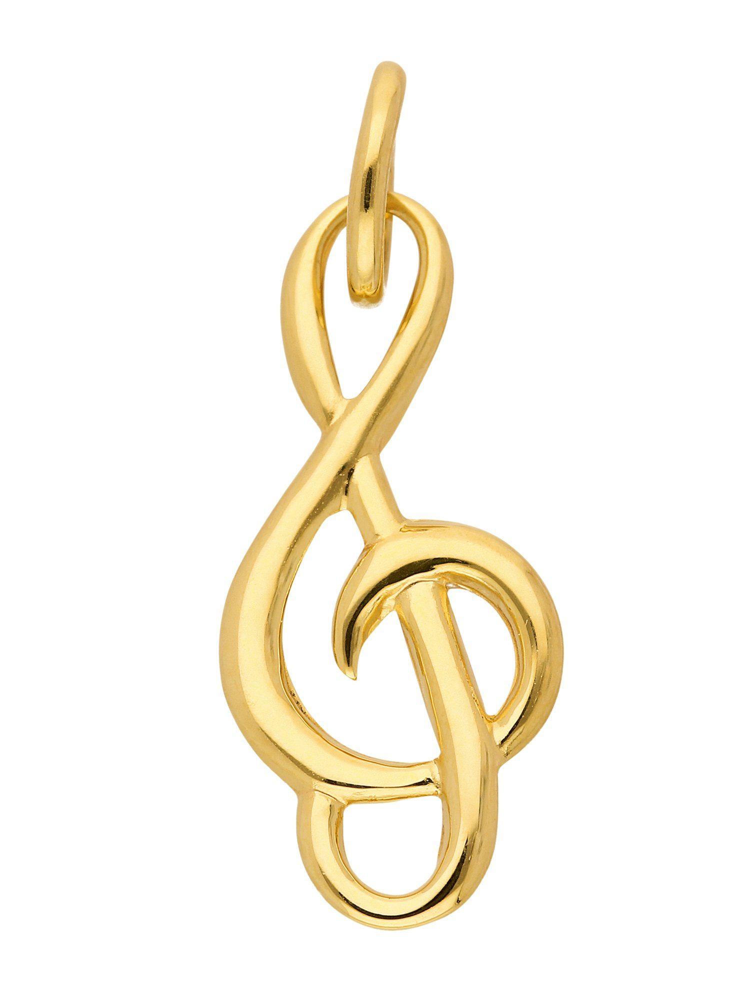 Adelia´s Kettenanhänger »Gold Anhänger« Notenschlüssel 8 k 333 Gelbgold