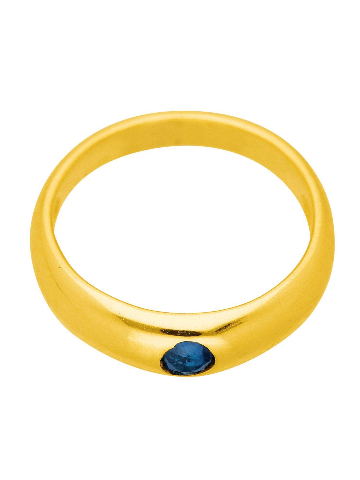 Adelia´s Kettenanhänger »Gold Anhänger« Taufring 14 k 585 Gelbgold mit Safir Ø 1.12 cm
