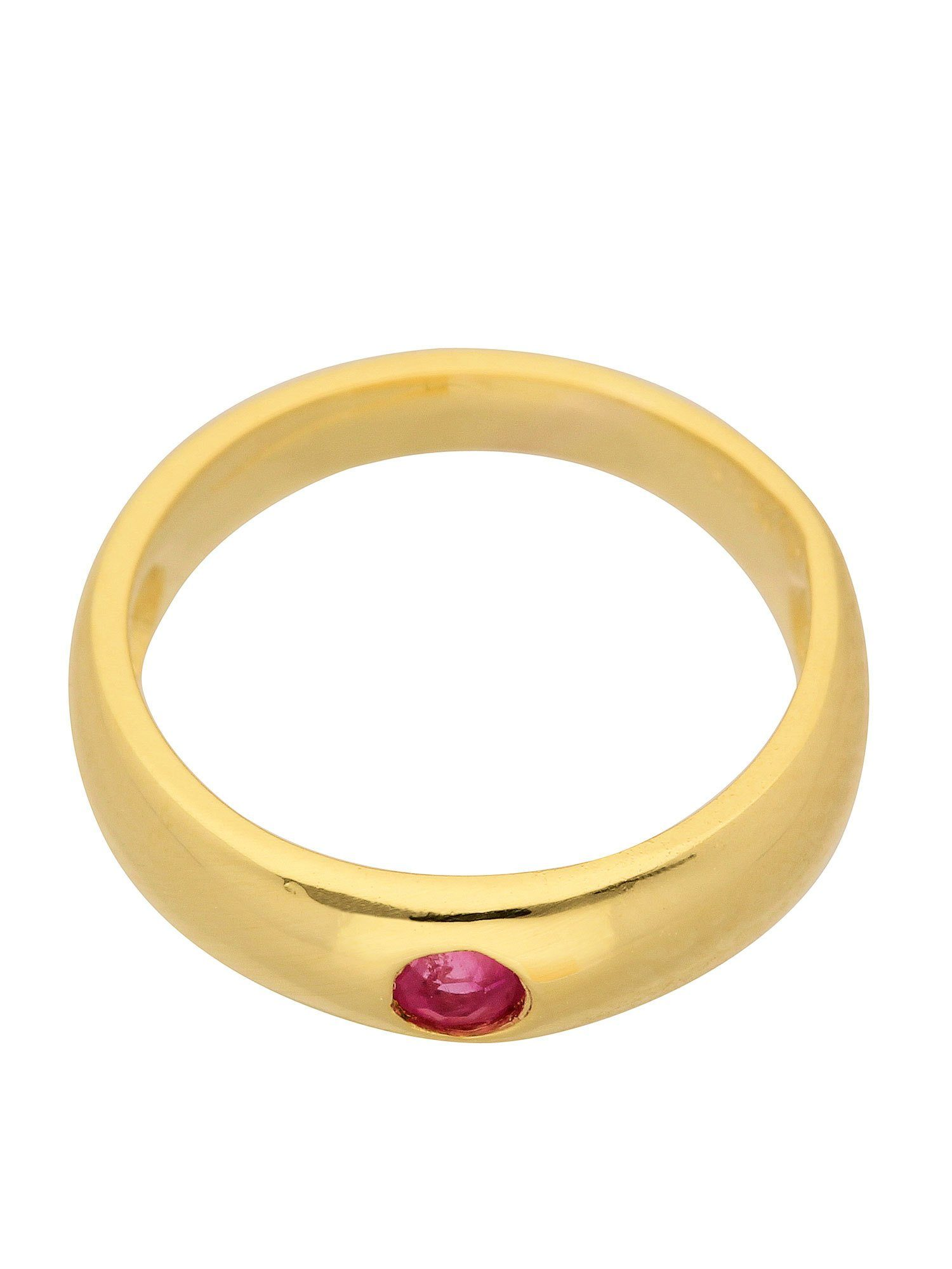 Adelia´s Kettenanhänger »Gold 14 k (585) Motiv - Anhänger« Taufring 14 k 585 Gelbgold mit Rubin Ø 1.12 cm