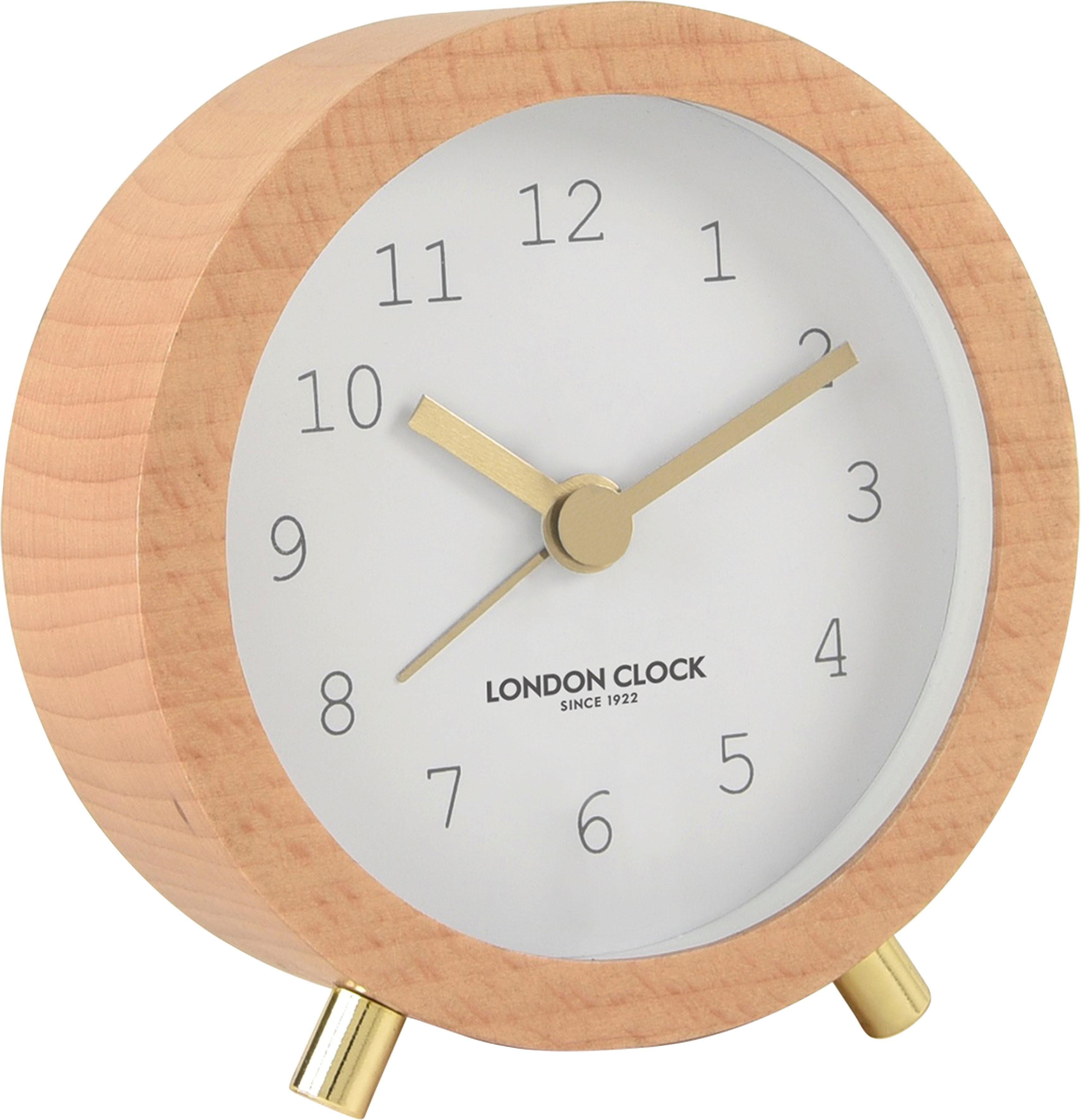 INOSIGN Tischuhr »»London Clock 1922«« aus Massivholz, Weckfunktion