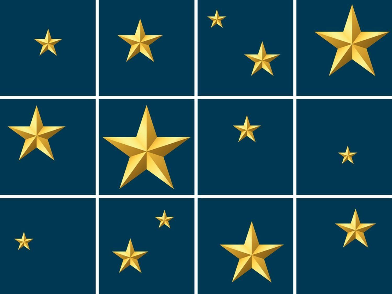 Fliesenaufkleber »Sterne« 12x 15/15 cm