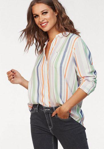 Lee® Hemdbluse »Colorblocking« mit vertikalen Streifen