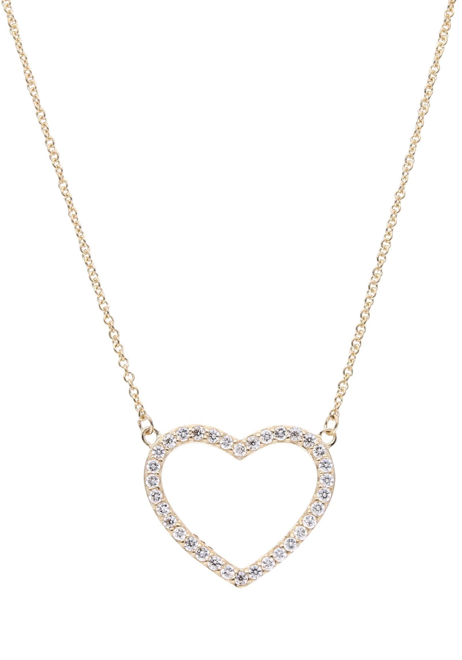 Firetti Kette mit Anhänger »Herz, Liebe« mit Zirkonia | Schmuck > Halsketten > Herzketten | Firetti