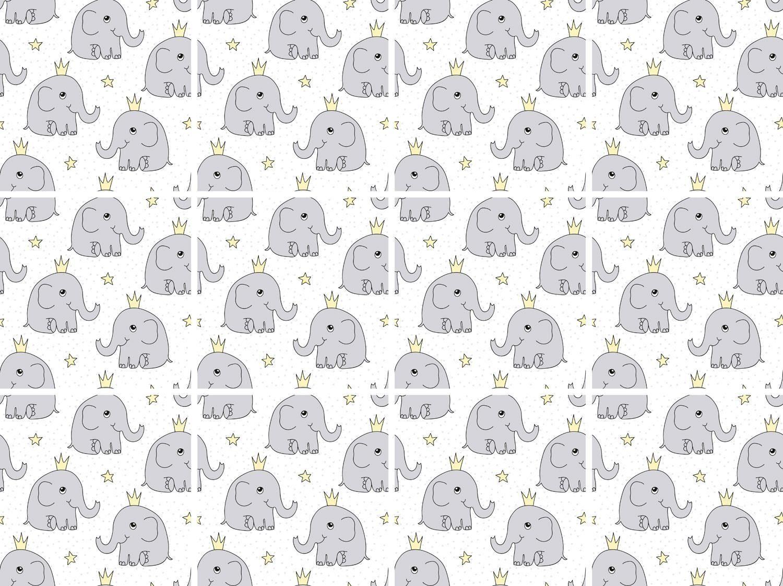 Fliesenaufkleber »Elefanten« 12x 15/15 cm