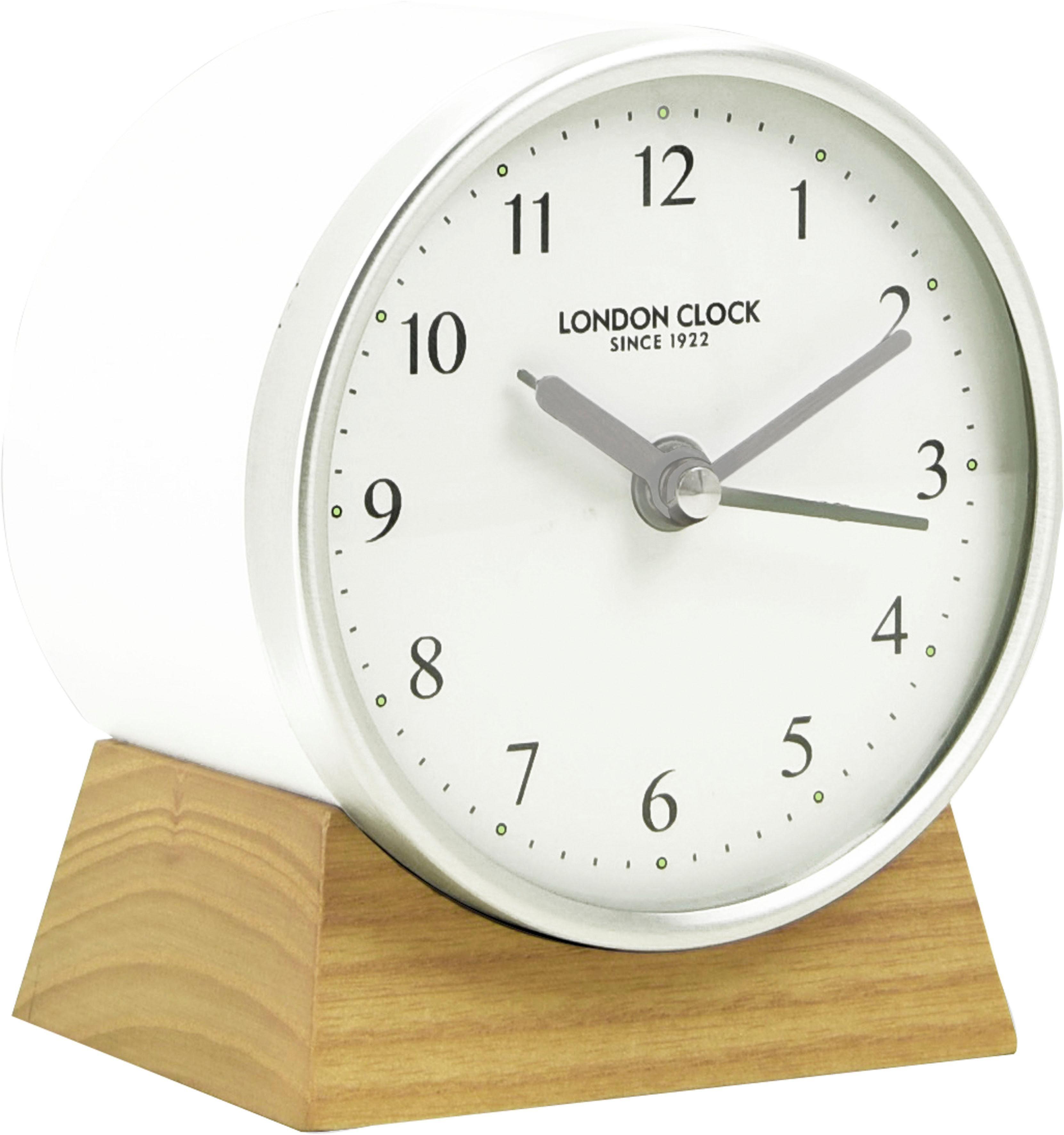 INOSIGN Tischuhr »London Clock 1922« aus Massivholz, Weckfunktion