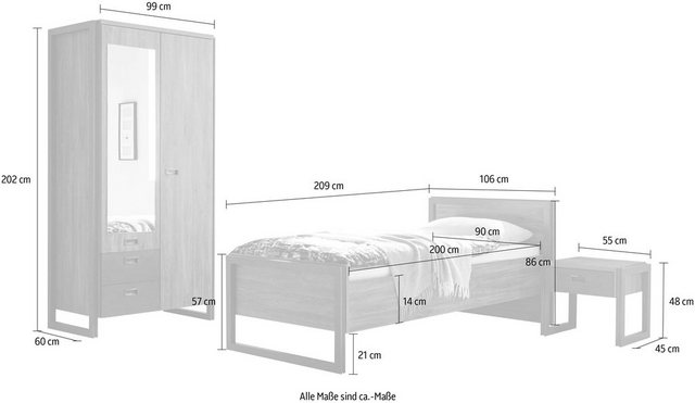 Schlafzimmer Sets - Home affaire Schlafzimmer Set »Detroit«  - Onlineshop OTTO