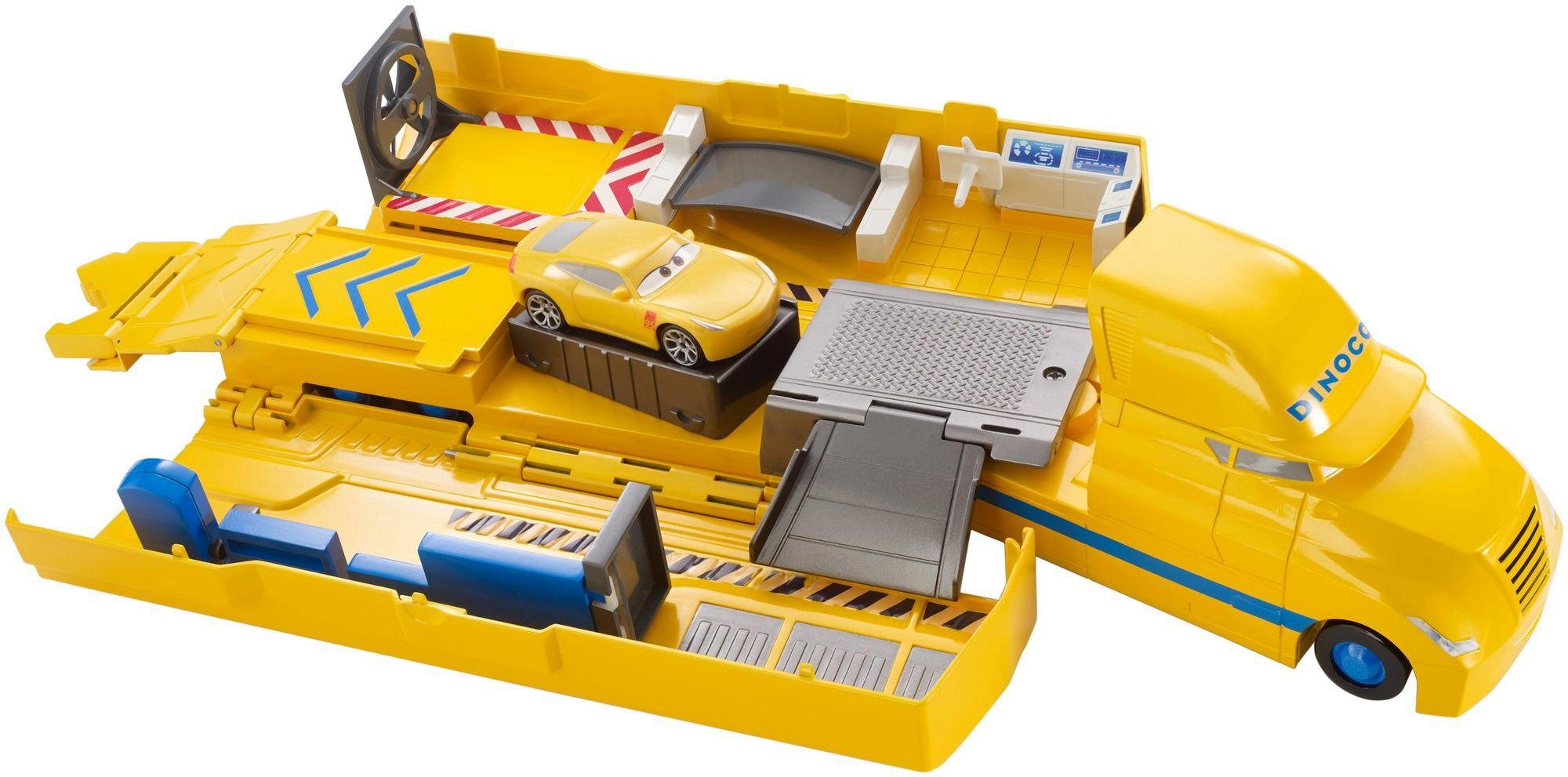 Mattel Verwandelbarer Spielfahrzeug, »Disney Cars Transporter Spielset Cruz Ramirez«