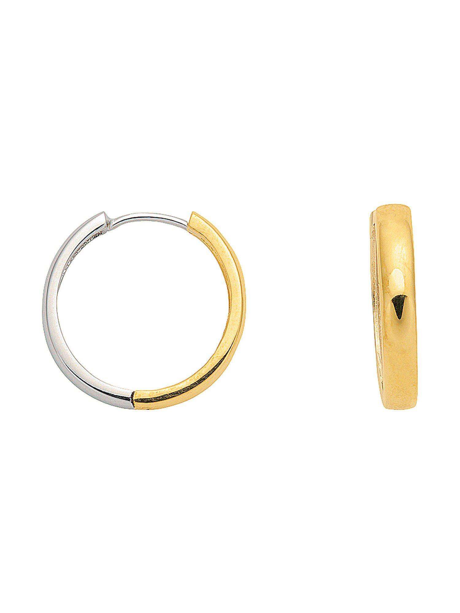 Adelia´s Paar Creolen »Gold Ohrringe« 14 k 585 Weißgold Ø 1.85 cm