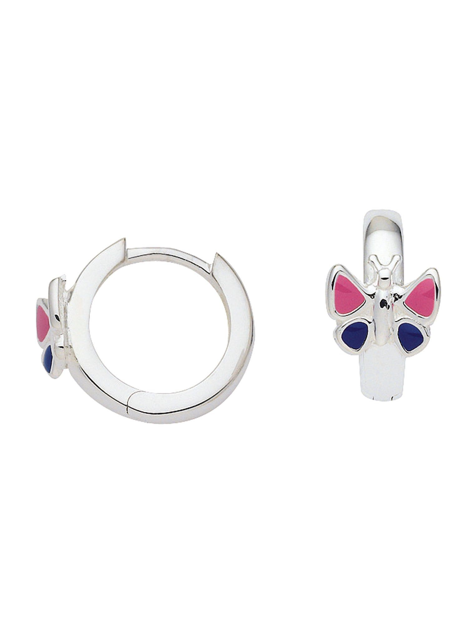 Adelia´s Paar Creolen »Silber Ohrringe« Schmetterling 925 Sterling Silber Ø 1.24 cm
