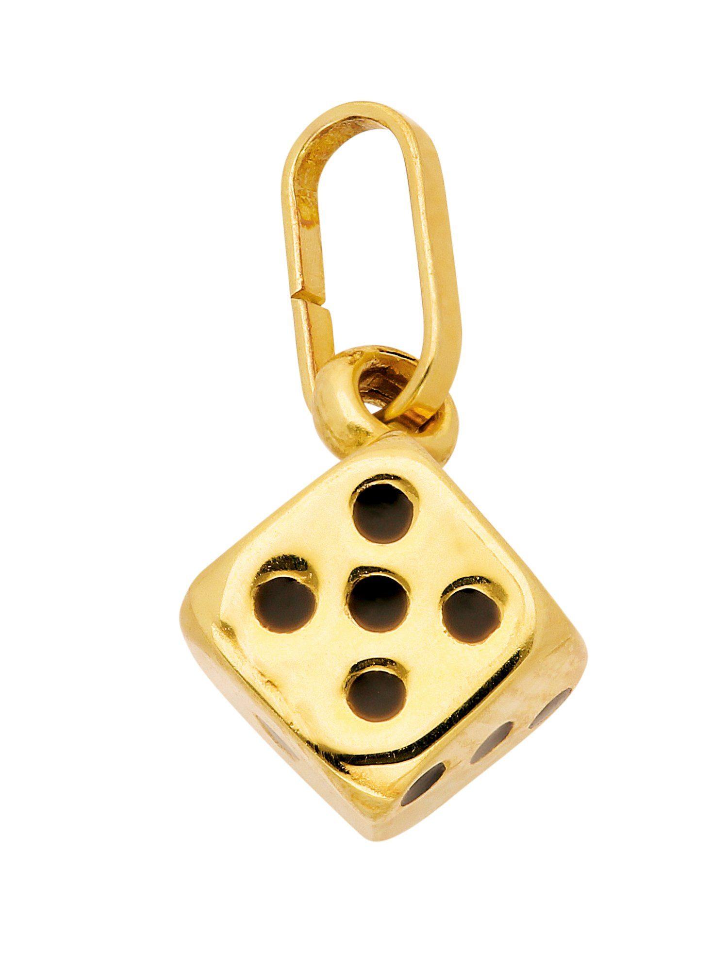 Adelia´s Kettenanhänger »Gold Anhänger« Würfel 8 k 333 Gelbgold