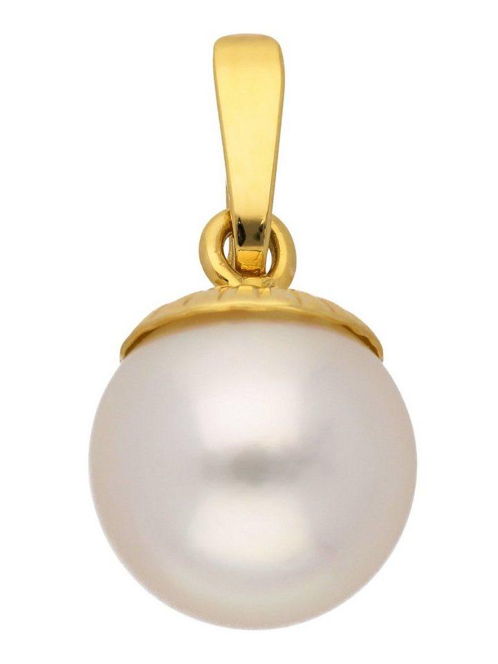 Adelia´s Kettenanhänger »Gold 14 k (585) Anhänger« 14 k 585 Gelbgold mit Süßwasser Zuchtperle Ø 8 mm | Schmuck > Halsketten > Ketten ohne Anhänger | Goldfarben | Adelia´s
