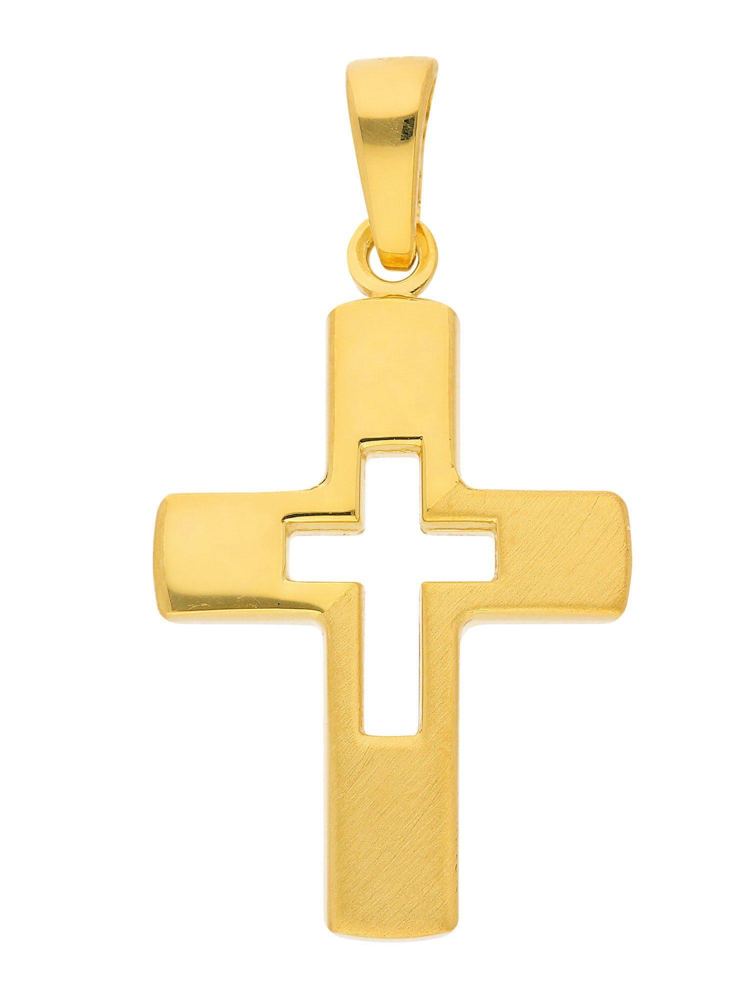 Adelia´s Kettenanhänger »Silber Anhänger« 925 Sterling Silber vergoldet