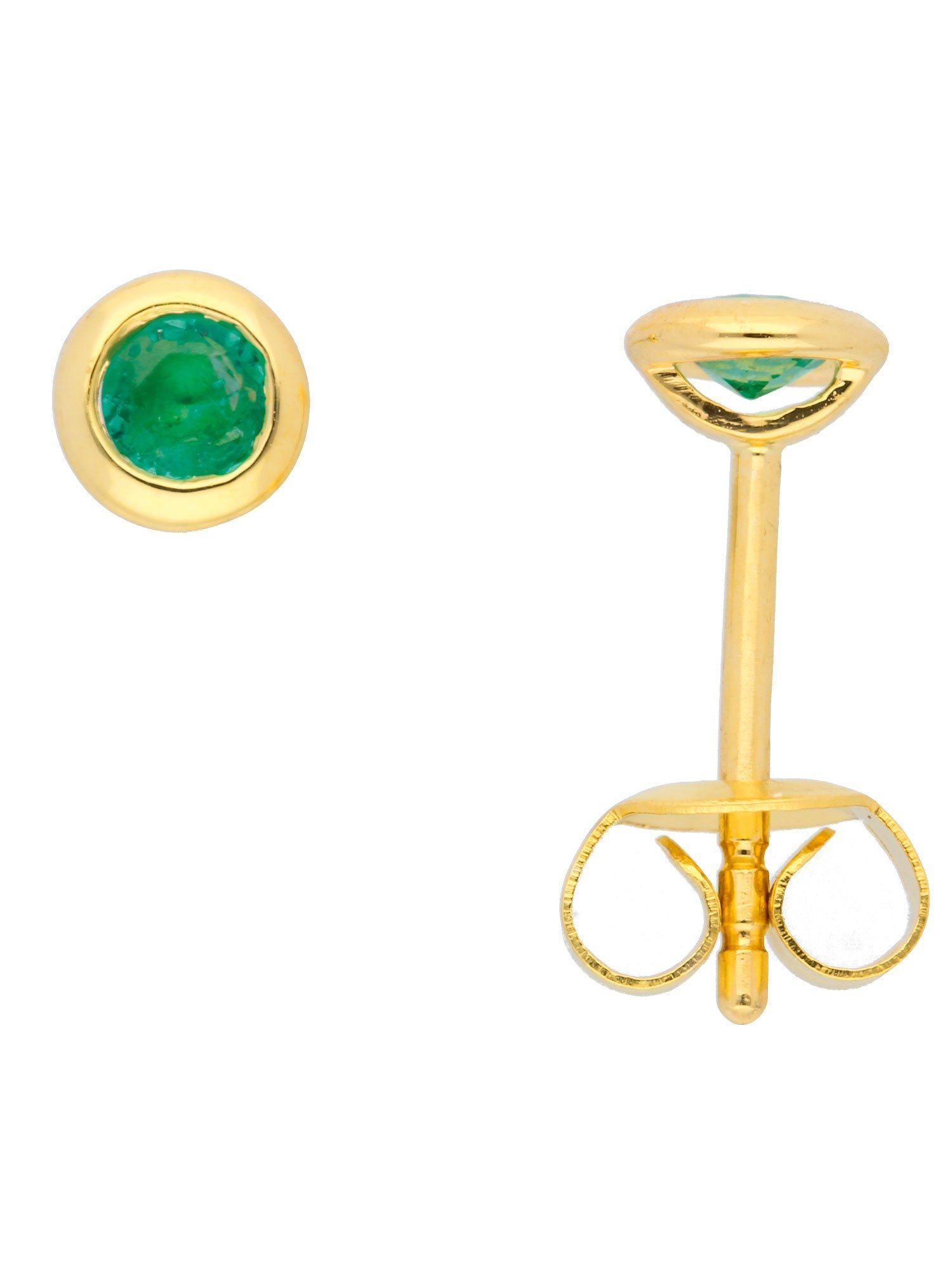Adelia´s Paar Ohrstecker »Gold Ohrringe« 14 k 585 Gelbgold mit Smaragd   Schmuck > Ohrschmuck & Ohrringe > Ohrstecker   Adelia´s