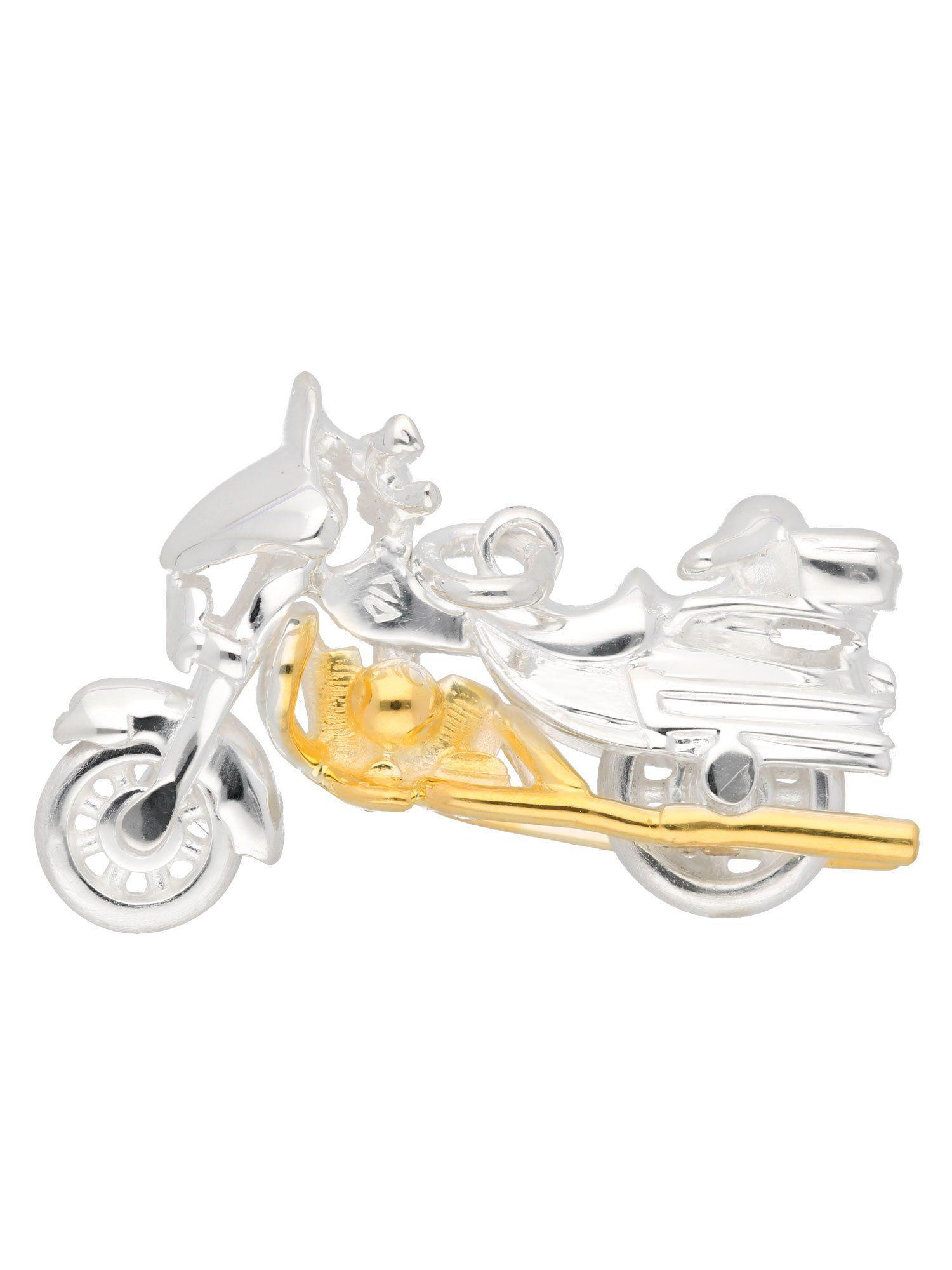 Adelia´s Kettenanhänger »Silber Anhänger« Harley-Davidson 925 Sterling Silber vergoldet