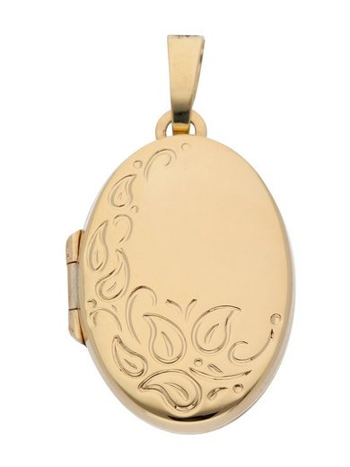 Adelia´s Kettenanhänger »Gold 14 k (585) Medaillon Anhänger« 14 k 585 Gelbgold