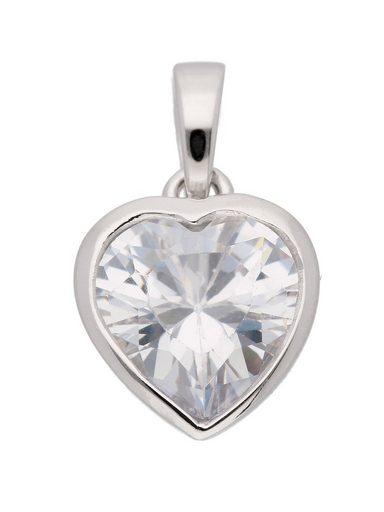 Adelia´s Kettenanhänger »Silber 925 Sterling Silver Anhänger« Herz 925 Sterling Silber mit Zirkonia