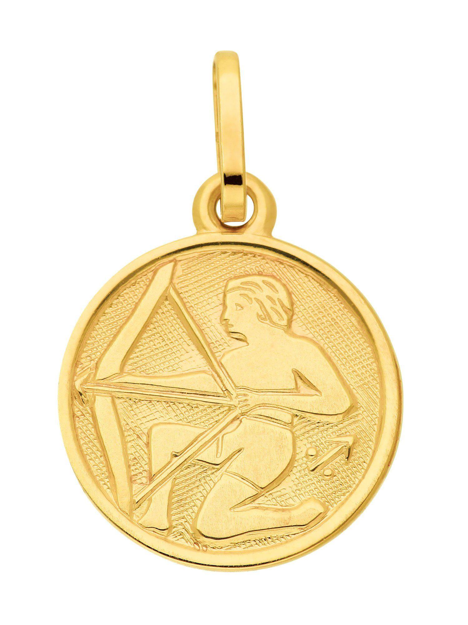 Adelia´s Kettenanhänger »Sternzeichen Gold Anhänger« Schütze 8 k 333 Gelbgold Ø 1.18 cm