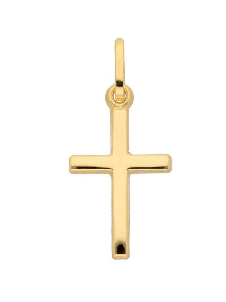 Adelia´s Kettenanhänger »Gold 8 k (333) Kreuz Anhänger« 8 k 333 Gelbgold | Schmuck > Halsketten > Ketten ohne Anhänger | Goldfarben | Adelia´s