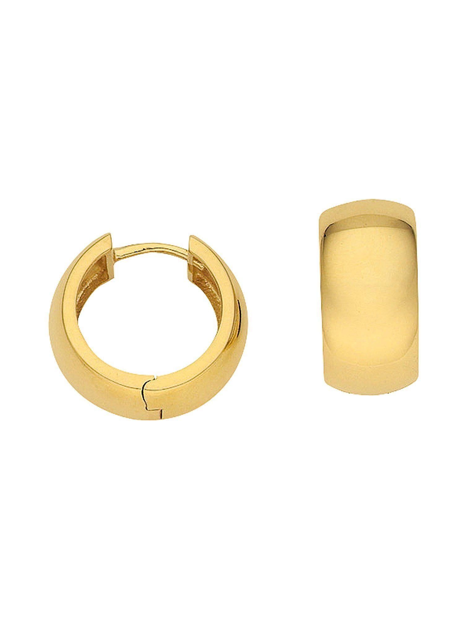 Adelia´s Paar Creolen »Gold Ohrringe« 14 k 585 Gelbgold Ø 1.46 cm