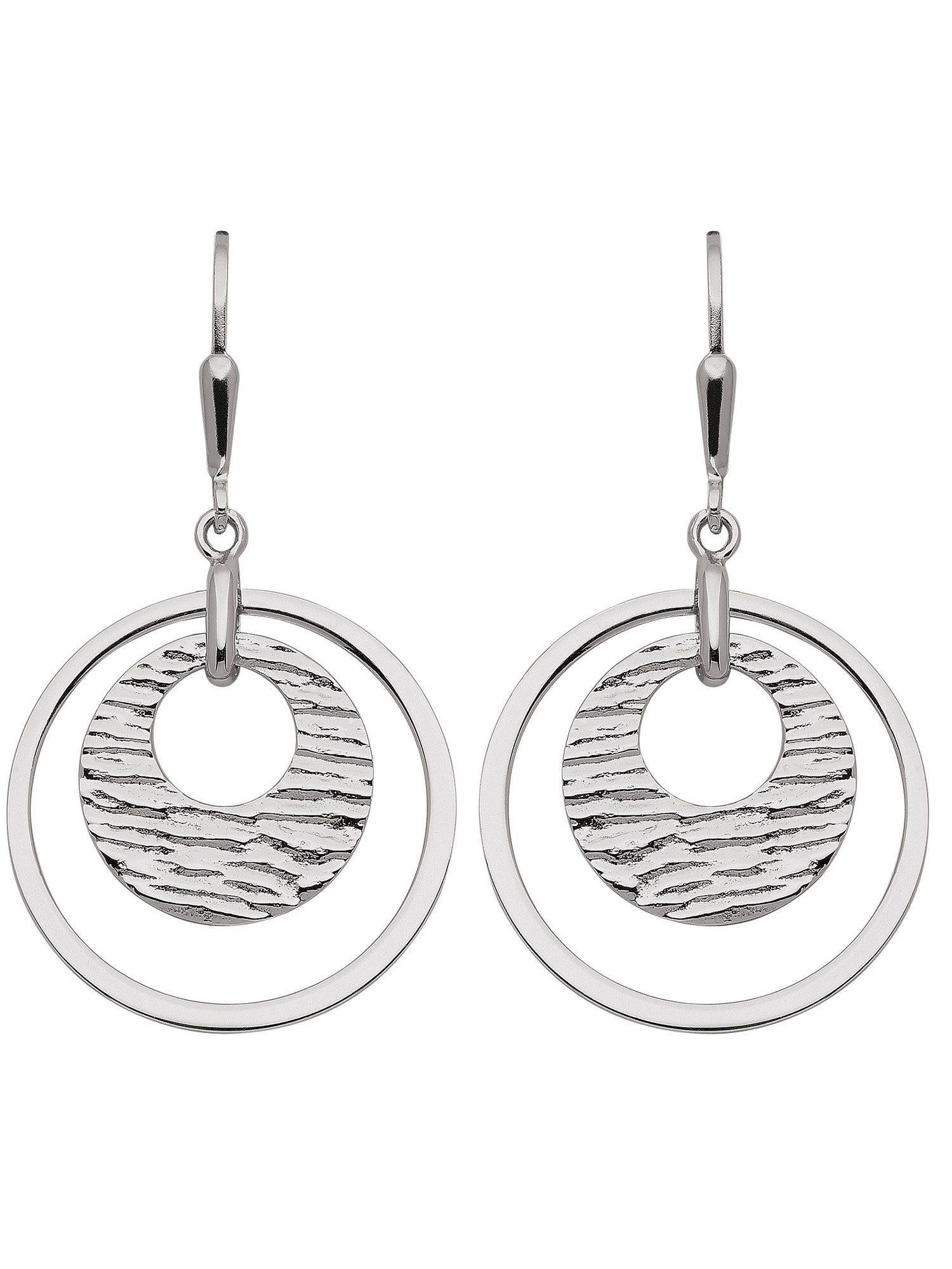 Adelia´s Paar Ohrhänger »Silber Ohrringe« 925 Sterling Silber Ø 2.32 cm