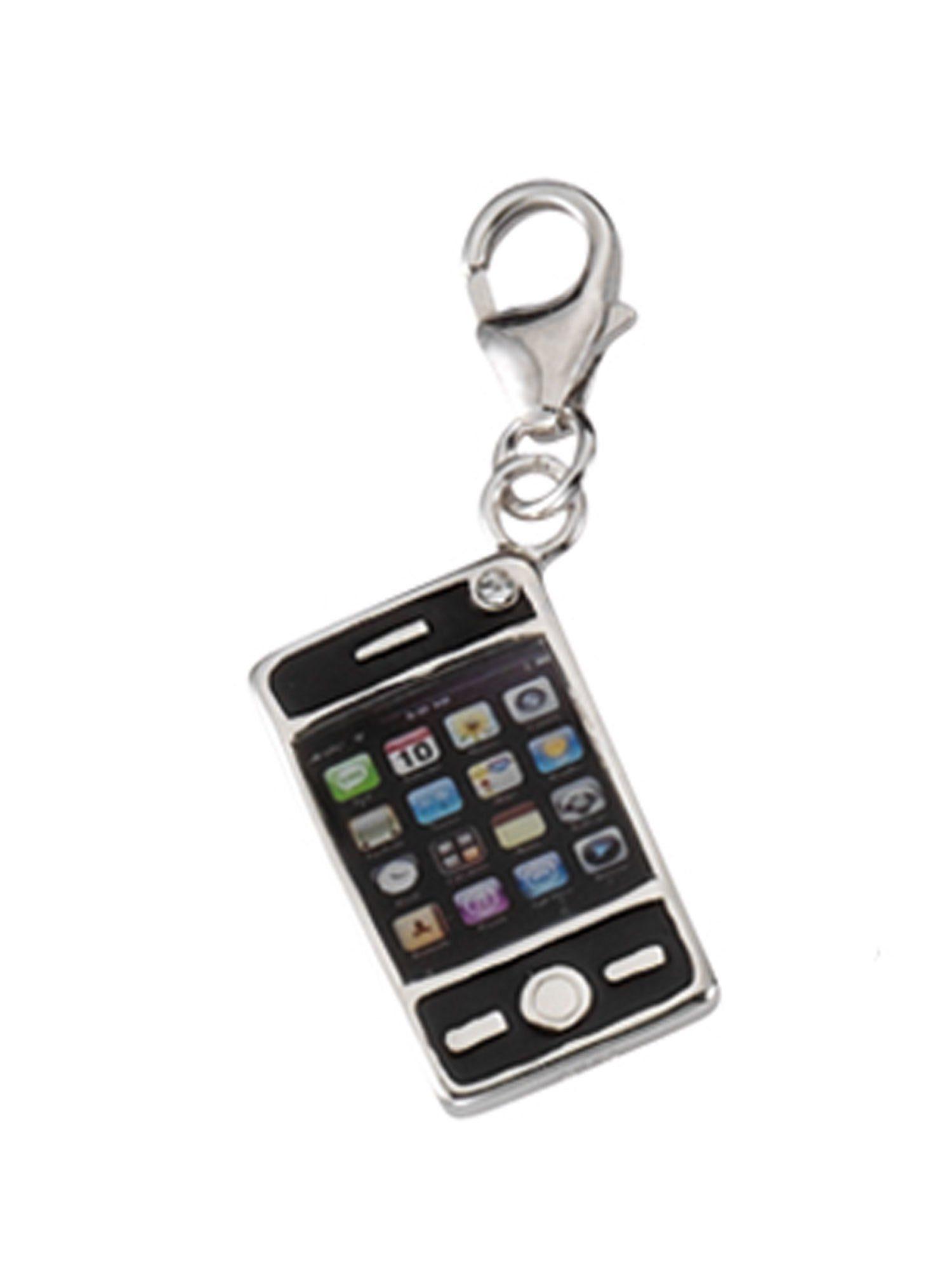 Adelia´s Charm-Einhänger »Silber Anhänger« Handy 925 Sterling Silber mit Zirkonia