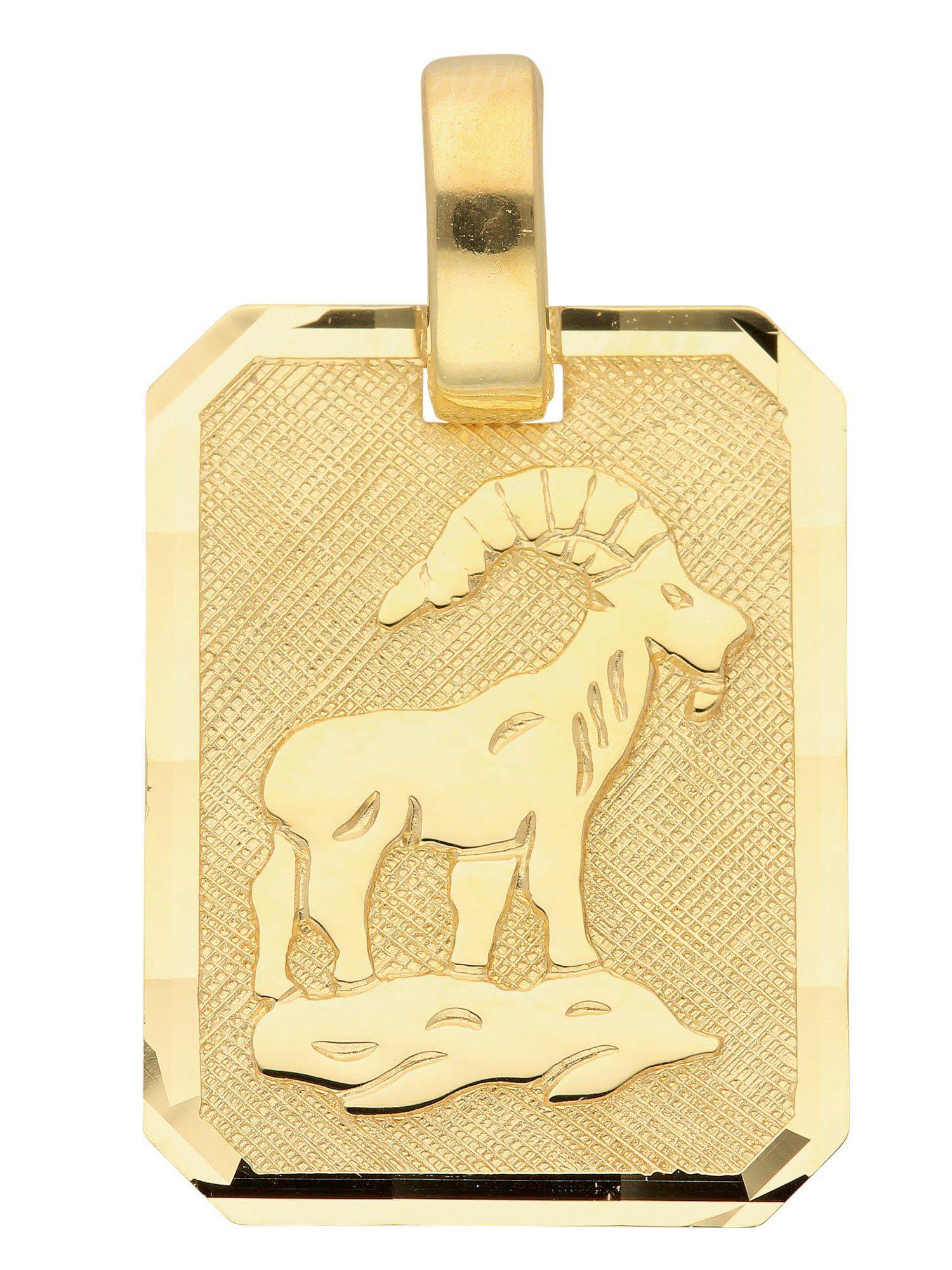 Adelia´s Kettenanhänger »Sternzeichen Gold Anhänger« Steinbock 8 k 333 Gelbgold