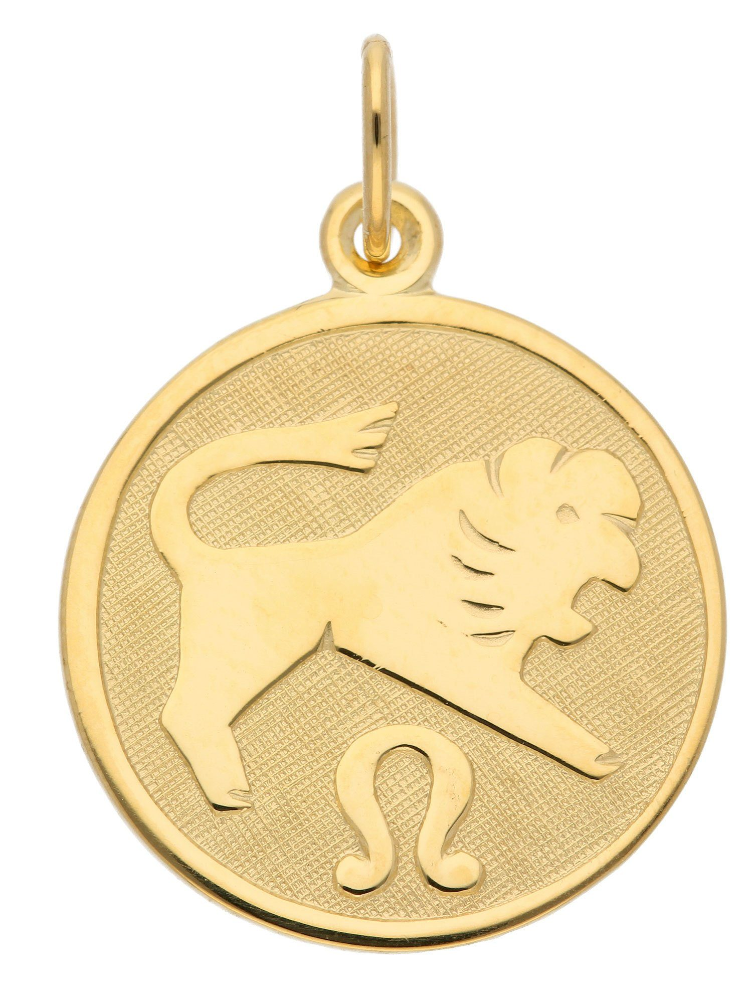 Adelia´s Kettenanhänger »Sternzeichen Gold Anhänger« Löwe 8 k 333 Gelbgold Ø 1.6 cm