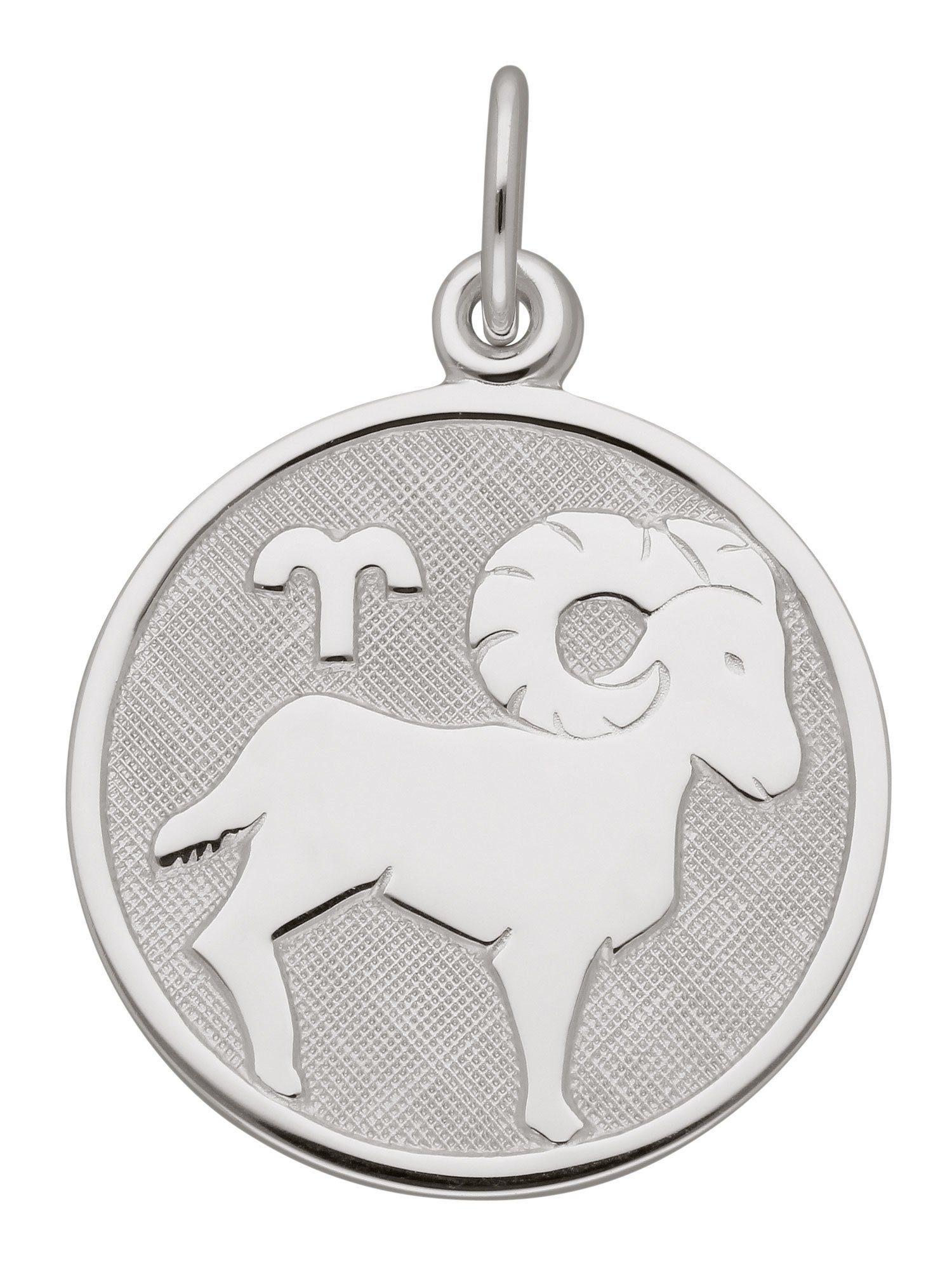 Adelia´s Kettenanhänger »Silber 925 Sterling Silver Sternzeichen Anhänger« Widder 925 Sterling Silber Ø 1.57 cm