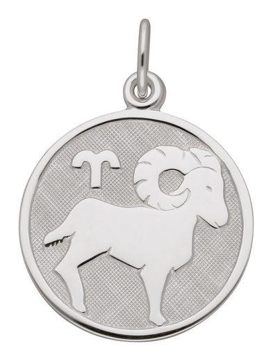 Adelia´s Kettenanhänger »925 Silber Sternzeichen Anhänger Widder Ø 15,7 mm«, Silberschmuck für Damen & Herren