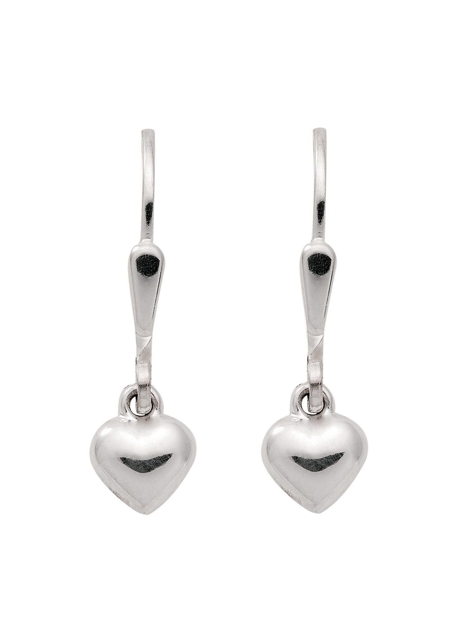 Adelia´s Paar Ohrhänger »Silber Ohrringe« Herz 925 Sterling Silber