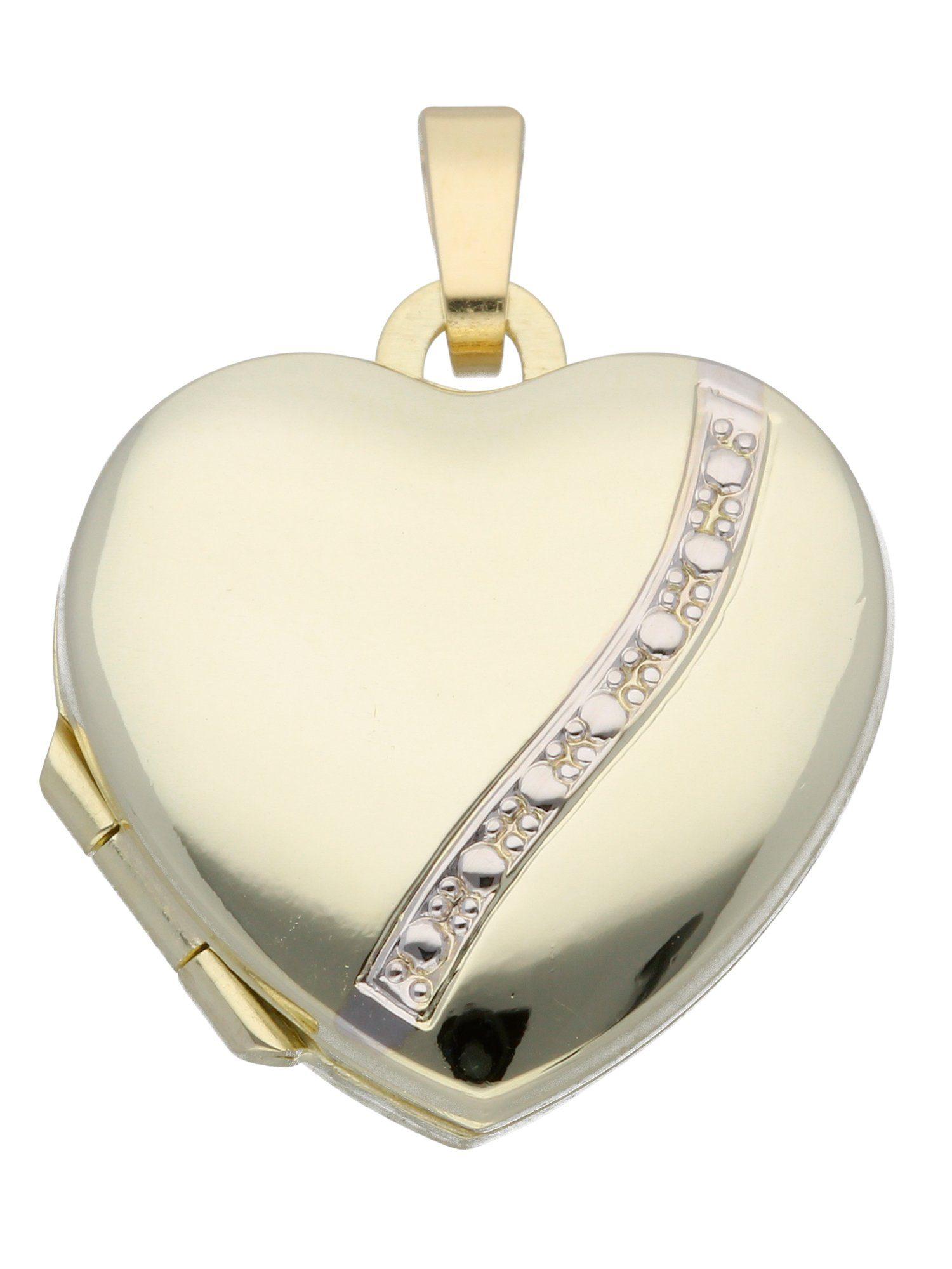 Adelia´s Kettenanhänger »Medaillon Gold Anhänger« 8 k 333 Gelbgold