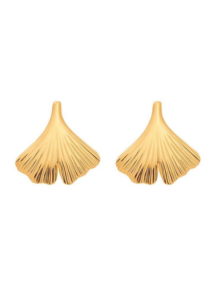 Adelia´s Paar Ohrstecker »Gold 14 k (585) Ohrringe - Ohrstecker« Ginkoblatt 14 k 585 Gelbgold | Schmuck > Ohrschmuck & Ohrringe > Ohrstecker | Goldfarben | Adelia´s