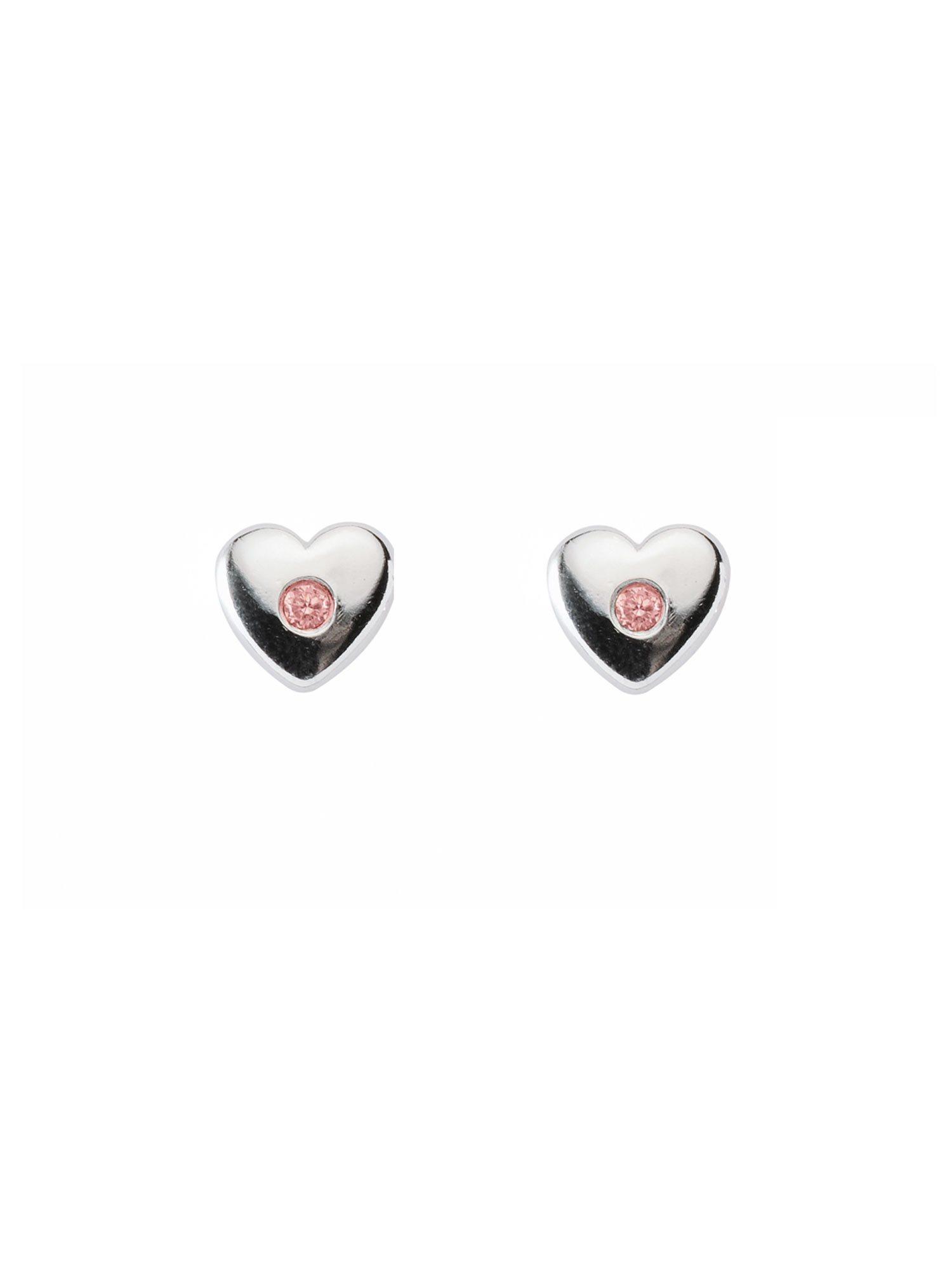 Adelia´s Paar Ohrstecker »Silber Ohrringe« Herz 925 Sterling Silber mit Zirkonia | Schmuck > Ohrschmuck & Ohrringe > Ohrstecker | Rosa | Adelia´s