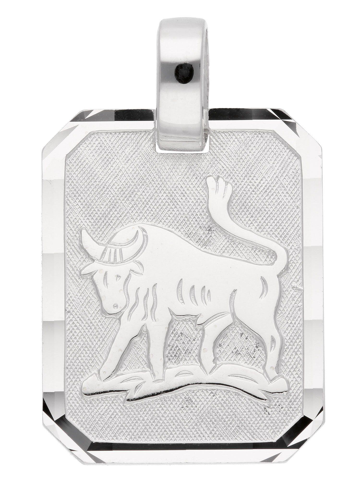 Adelia´s Kettenanhänger »Sternzeichen Silber Anhänger« Stier 925 Sterling Silber