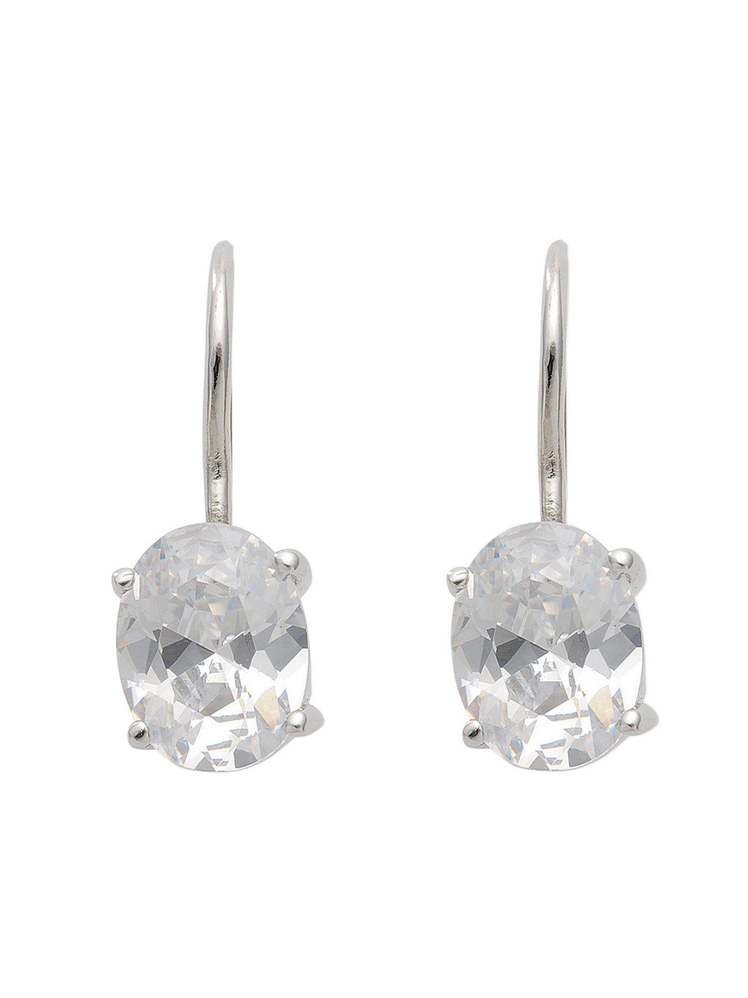Adelia´s Paar Ohrhänger »Silber Ohrringe« 925 Sterling Silber mit Zirkonia