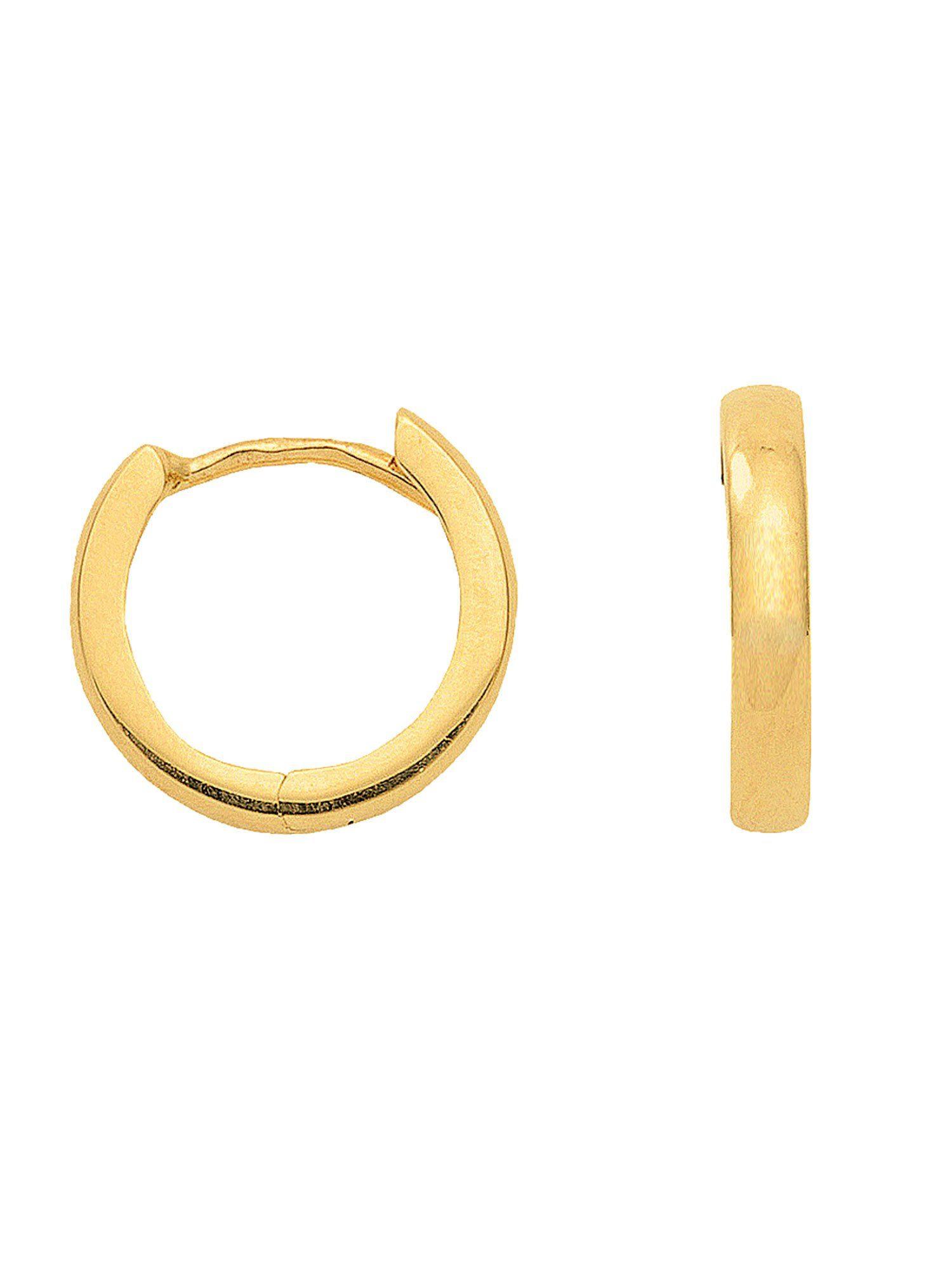 Adelia´s Paar Creolen »Gold Ohrringe« 14 k 585 Gelbgold Ø 1.2 cm