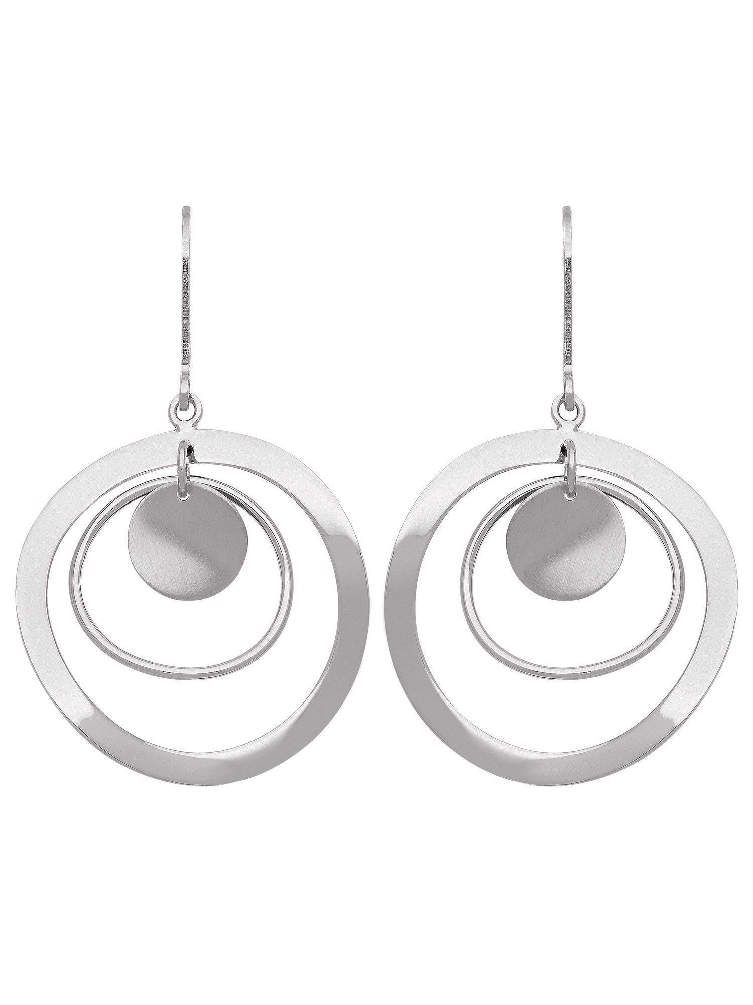 Adelia´s Paar Ohrhänger »Silber Ohrringe« 925 Sterling Silber Ø 2.7 cm