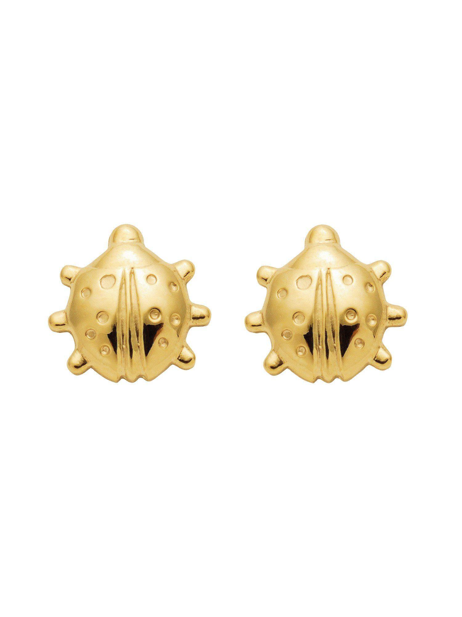 Adelia´s Paar Ohrstecker »Gold Ohrringe« Marienkäfer 8 k 333 Gelbgold