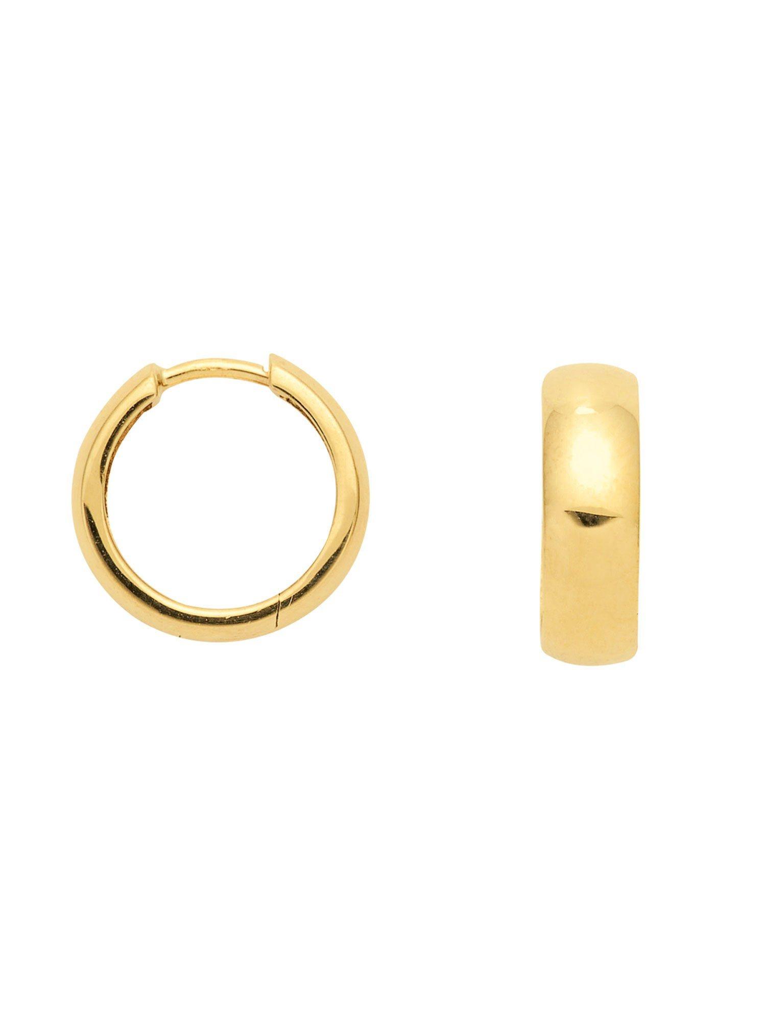Adelia´s Paar Creolen »Gold Ohrringe« 14 k 585 Gelbgold Ø 1.4 cm | Schmuck > Ohrschmuck & Ohrringe > Creolen | Goldfarben | Adelia´s