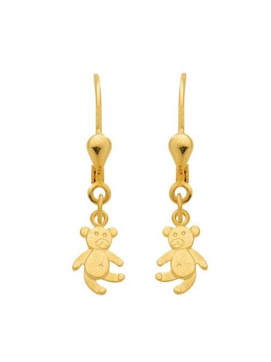 Adelia´s Paar Ohrhänger »Gold 14 k (585) Ohrringe - Ohrhänger«, Bär 14 k 585 Gelbgold