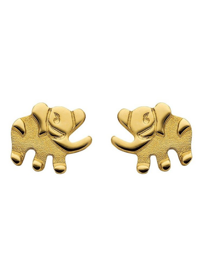 Adelia´s Paar Ohrstecker »Gold Ohrringe« 14 k 585 Elefant | Schmuck > Ohrschmuck & Ohrringe > Ohrstecker | Goldfarben | Adelia´s