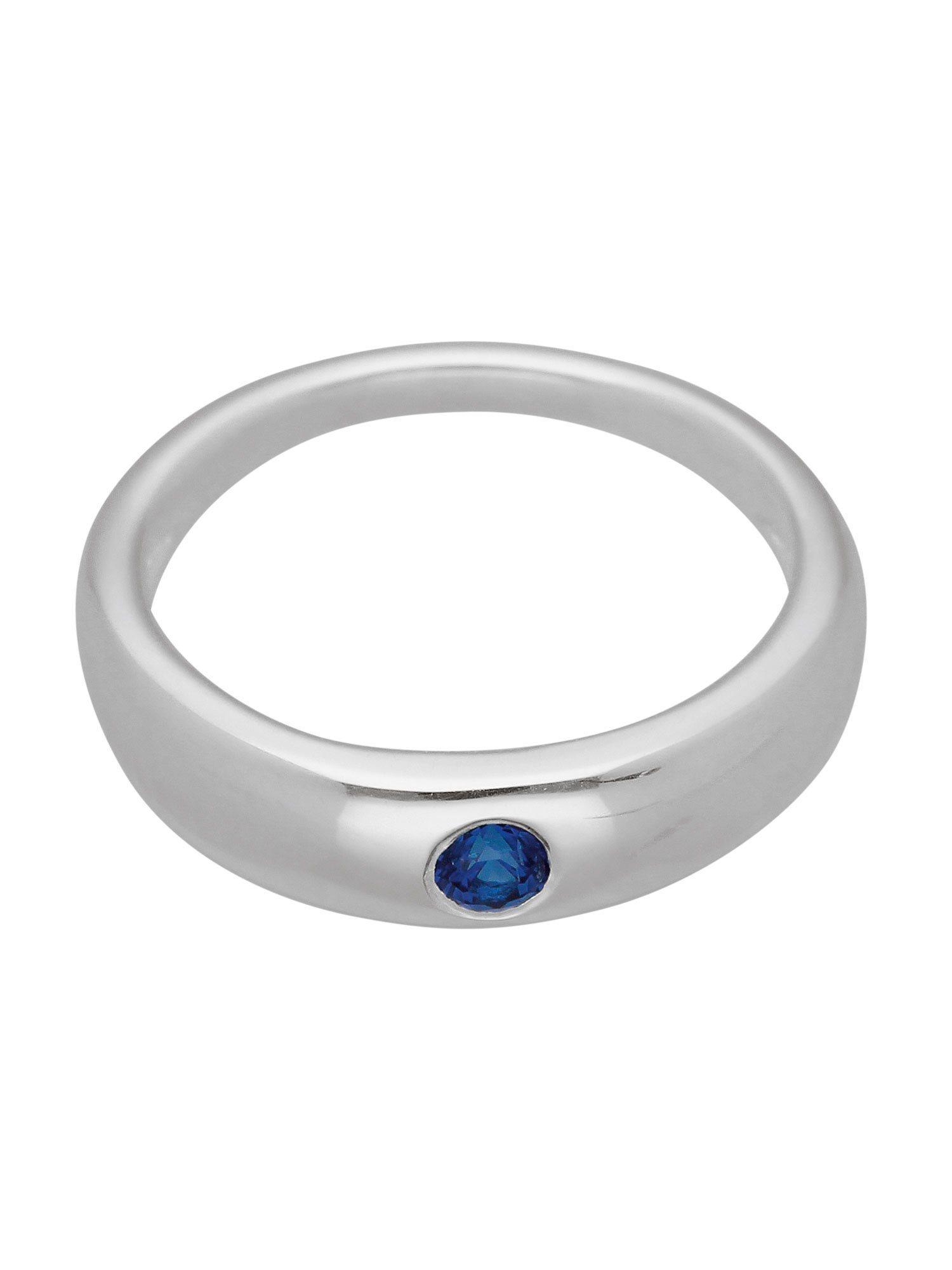 Adelia´s Kettenanhänger »Silber Anhänger« Taufring 925 Sterling Silber mit Safir Ø 1.09 cm | Schmuck > Halsketten > Ketten ohne Anhänger | Blau | Adelia´s