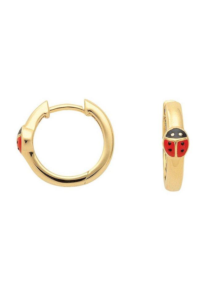 Adelia´s Paar Creolen »Gold 8 k (333) Ohrringe - Creolen« Marienkäfer 8 k 333 Gelbgold Ø 1.41 cm | Schmuck > Ohrschmuck & Ohrringe > Creolen | Goldfarben | Adelia´s