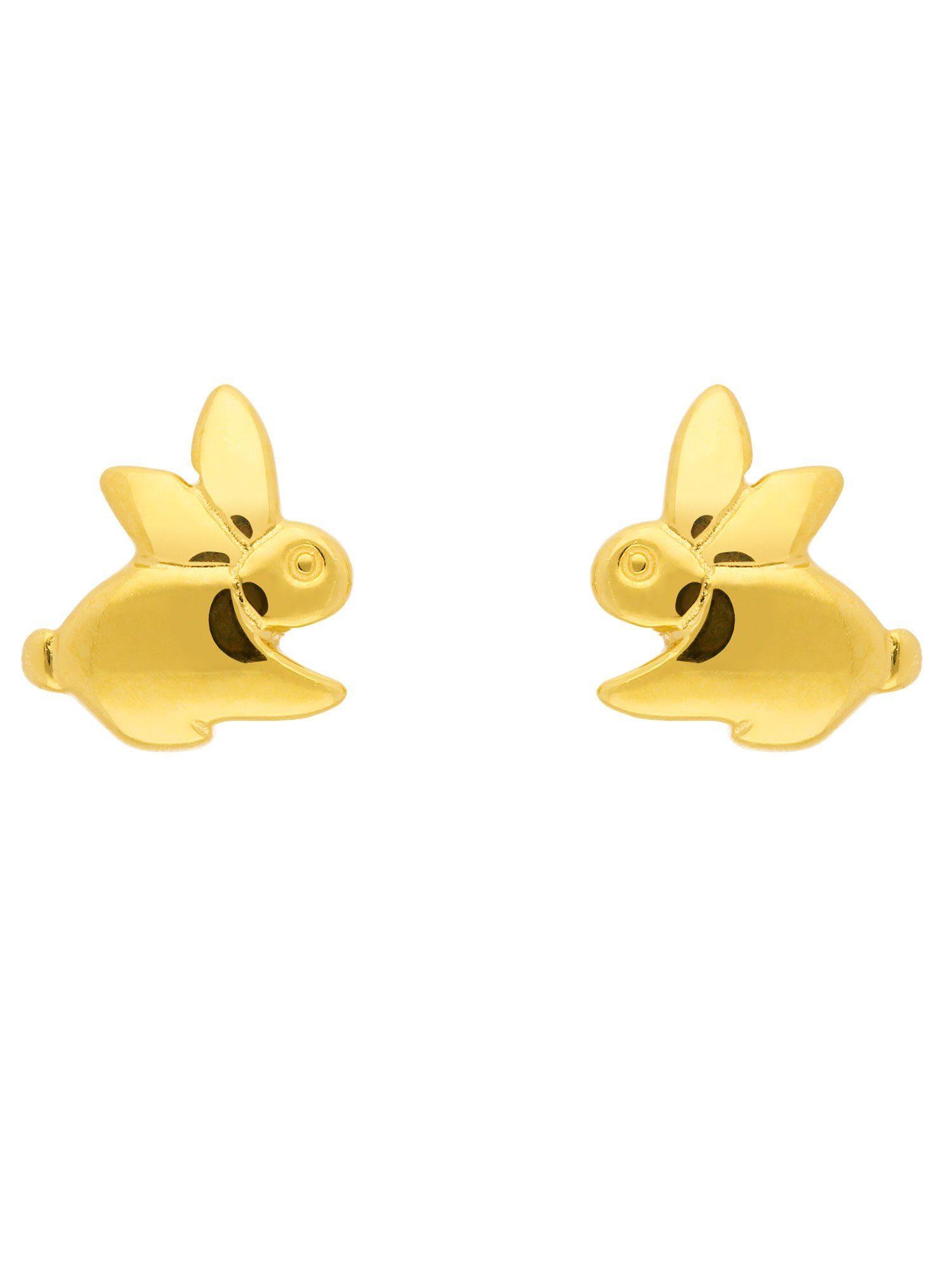 Adelia´s Paar Ohrstecker »Gold Ohrringe« Hase 8 k 333 Gelbgold