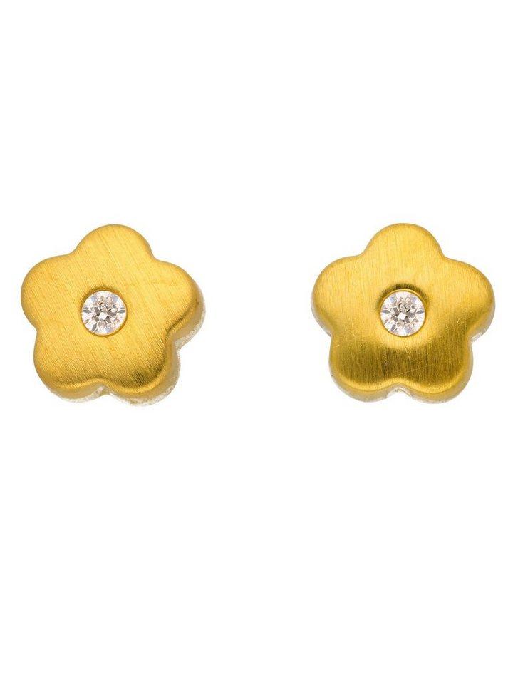 Adelia´s Paar Ohrstecker »Gold Ohrringe« Blüte 8 k 333 Gelbgold mit Zirkonia | Schmuck > Ohrschmuck & Ohrringe > Ohrstecker | Goldfarben | Adelia´s