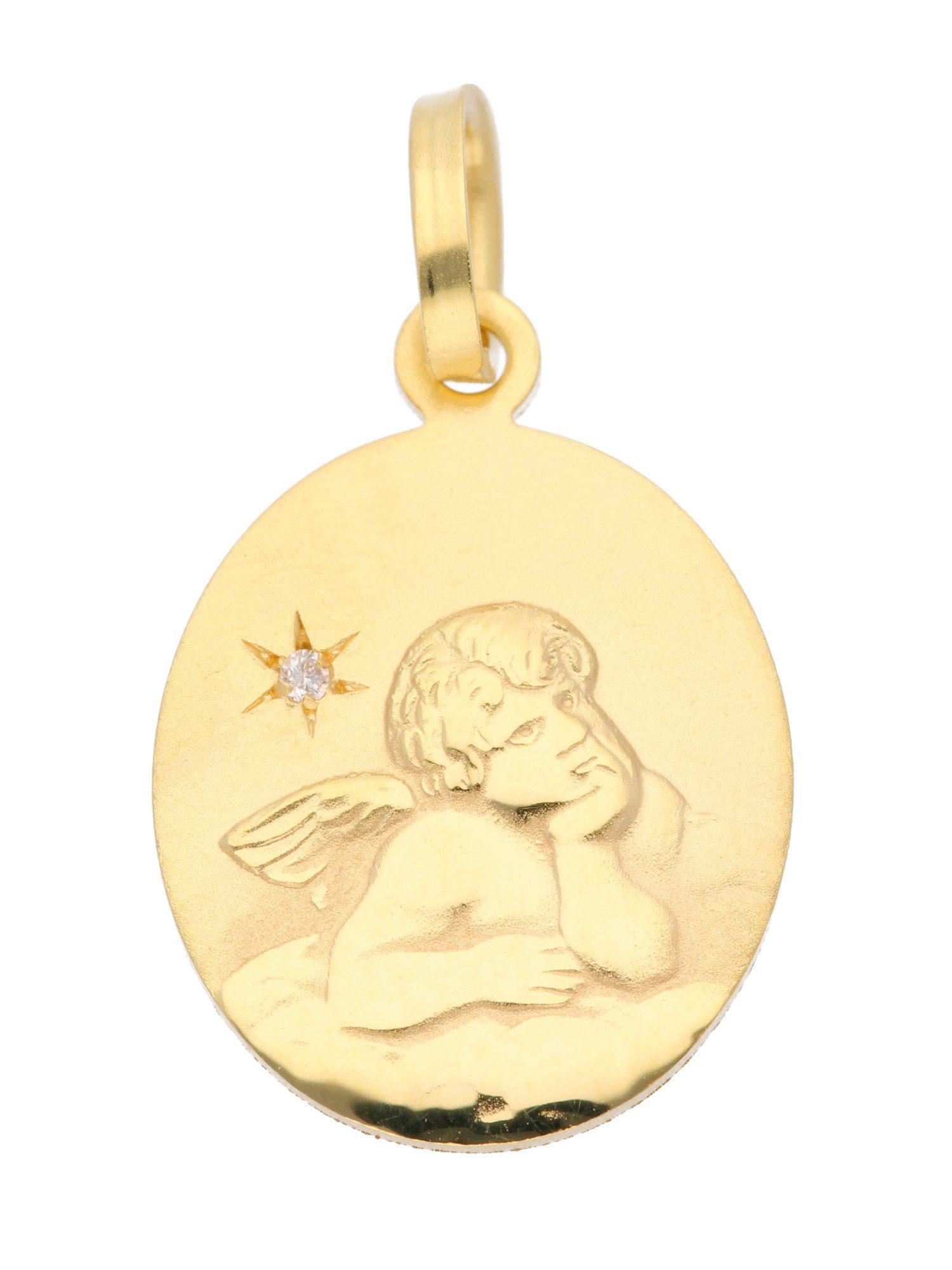 Adelia´s Kettenanhänger »Gold Anhänger« Amor 8 k 333 Gelbgold mit Diamant