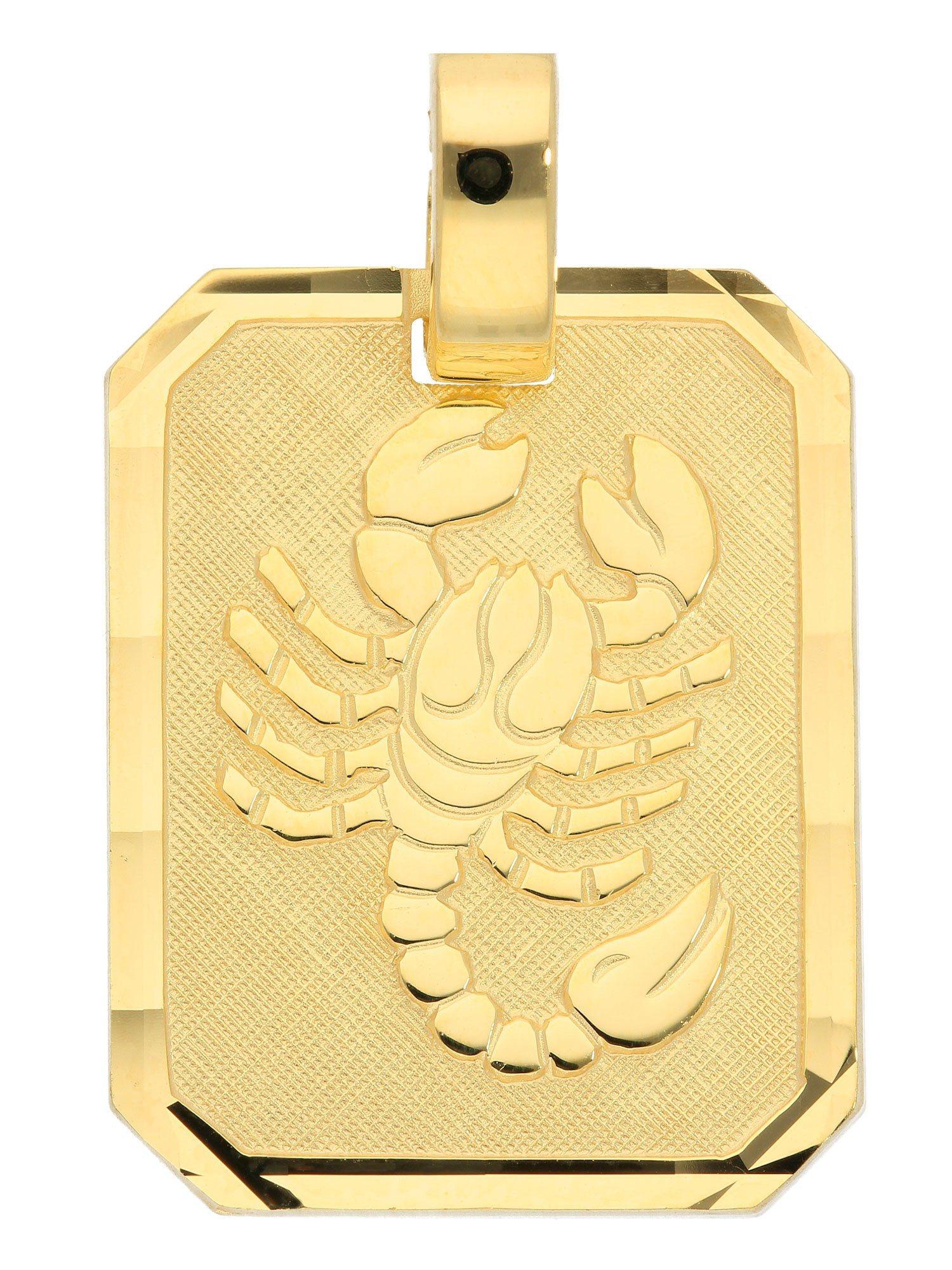 Adelia´s Kettenanhänger »Sternzeichen Gold Anhänger« Skorpion 8 k 333 Gelbgold | Schmuck > Halsketten > Ketten ohne Anhänger | Goldfarben | Adelia´s